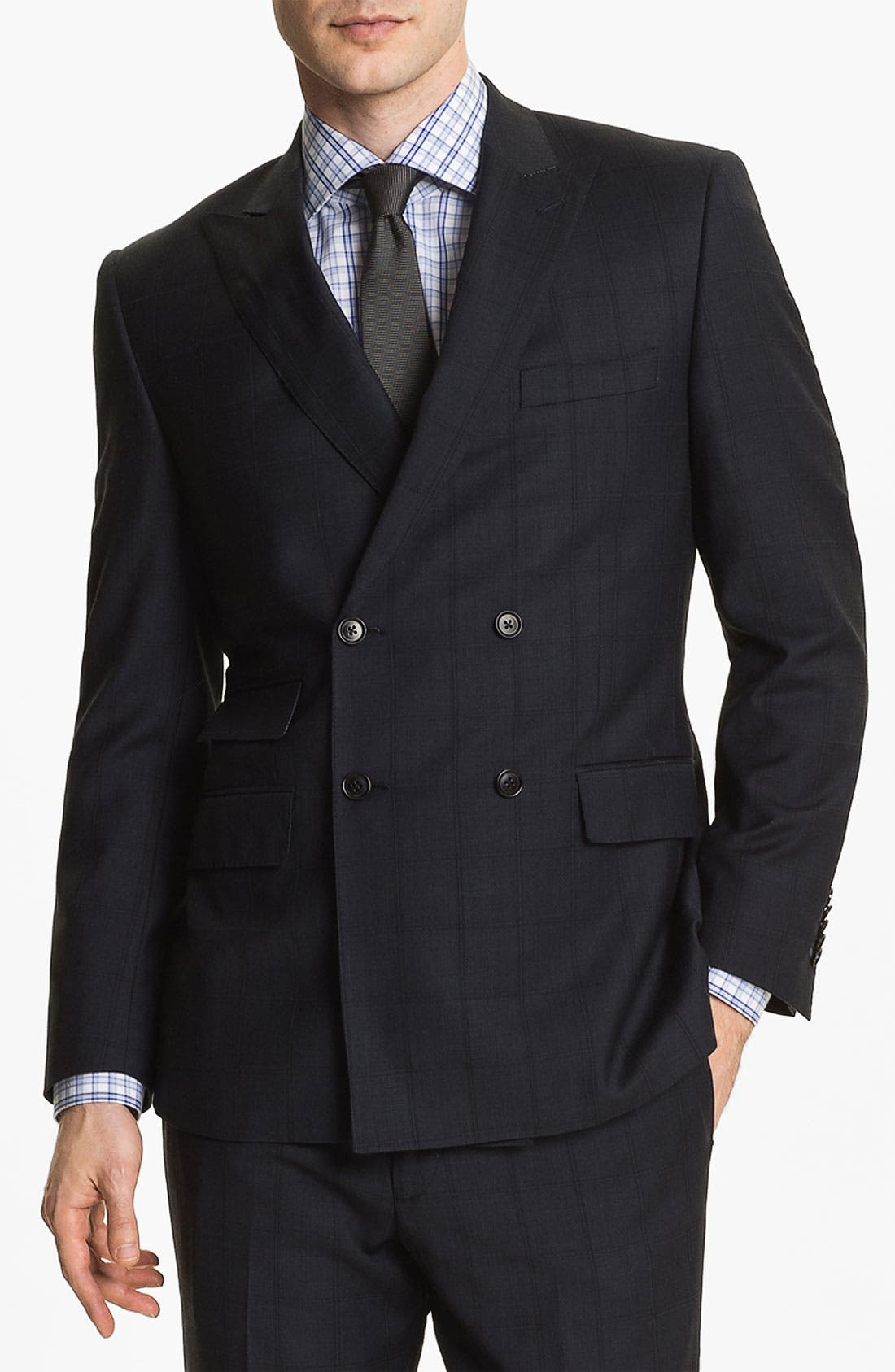 Alternate Image 4  - English Laundry Trim Fit Double Breasted Suit (Online Only)