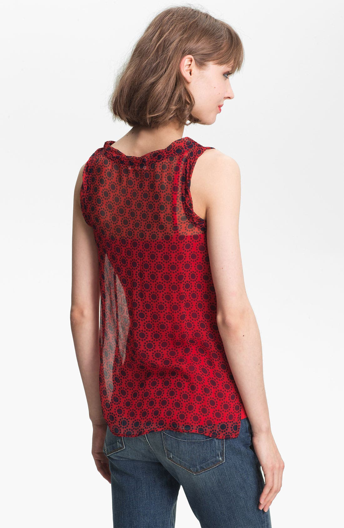 Alternate Image 2  - Ella Moss 'Sun Tile' Sheer Mix Print Tank