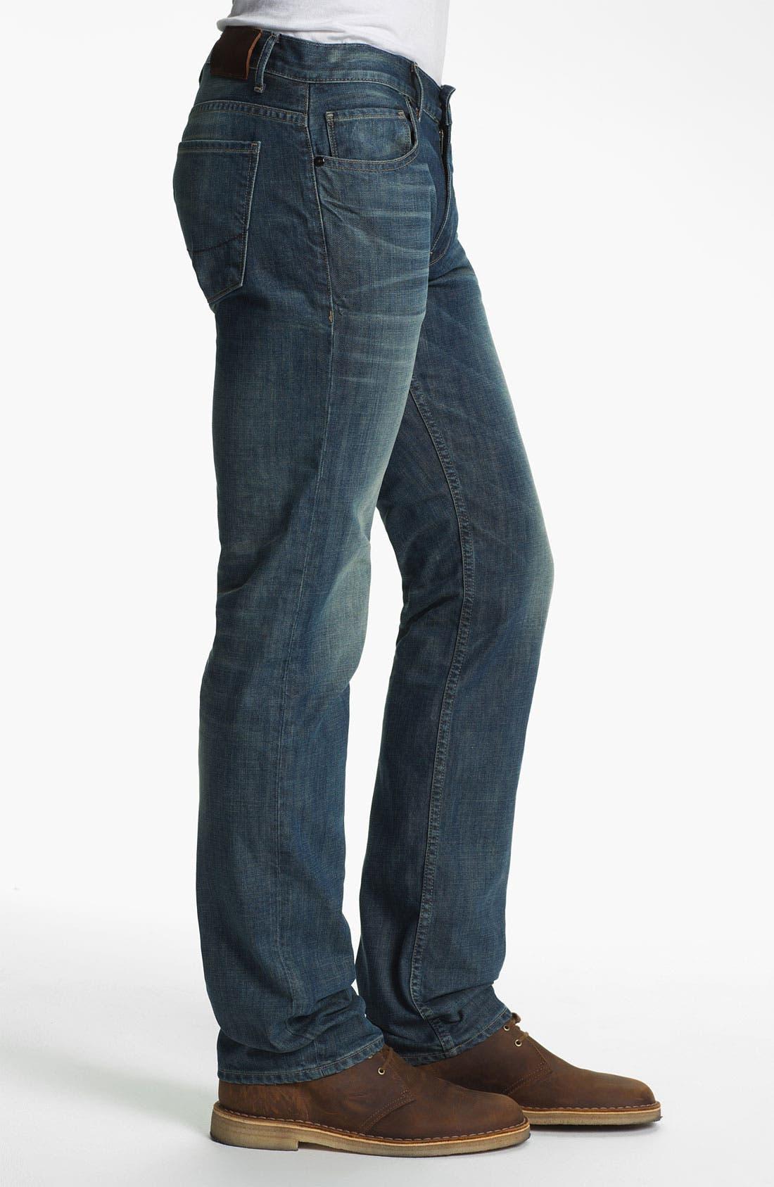 Alternate Image 3  - PAIGE 'Normandie' Slim Straight Leg Jeans (Lowtide)