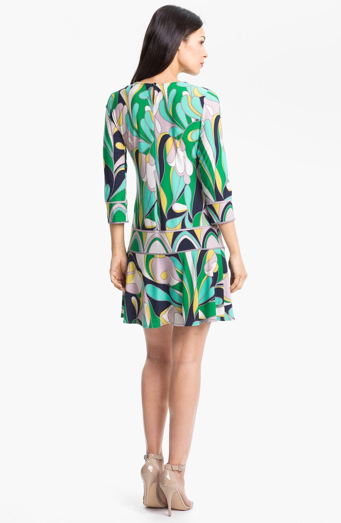 Alternate Image 2  - Donna Morgan Drop Waist Print Dress