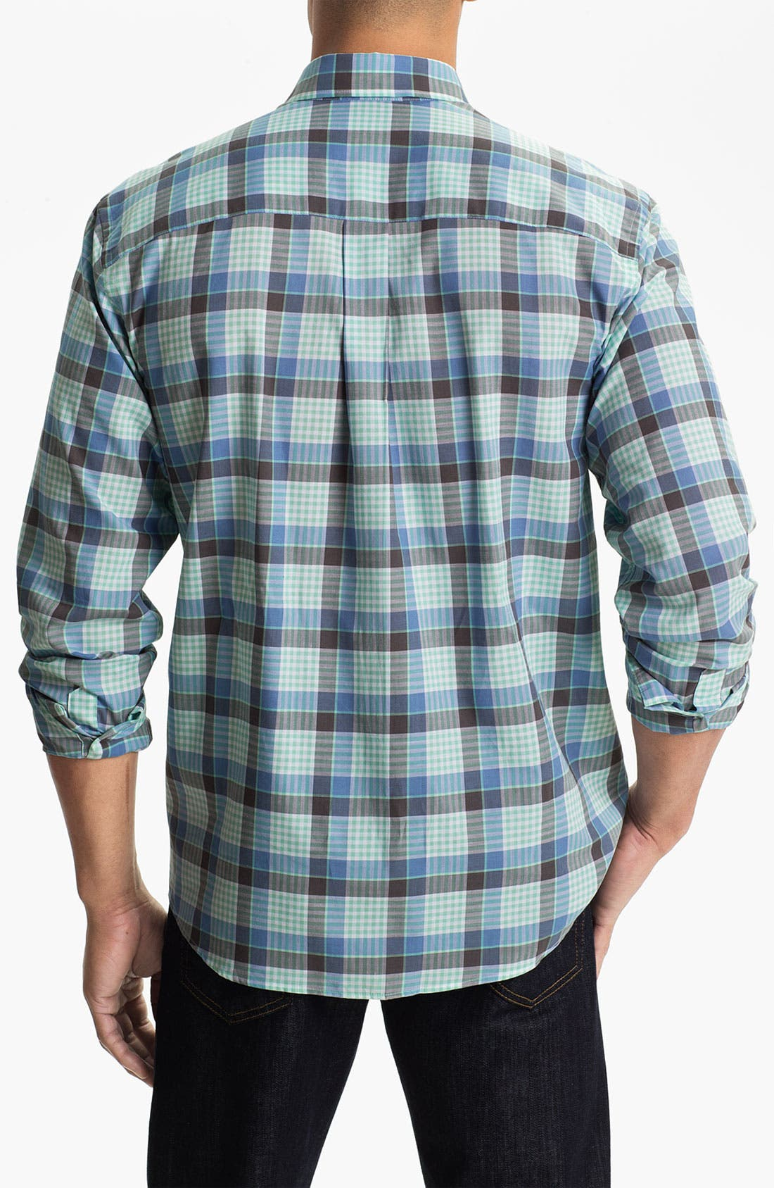 Alternate Image 2  - Cutter & Buck 'Tabor Plaid' Classic Fit Sport Shirt (Big & Tall)