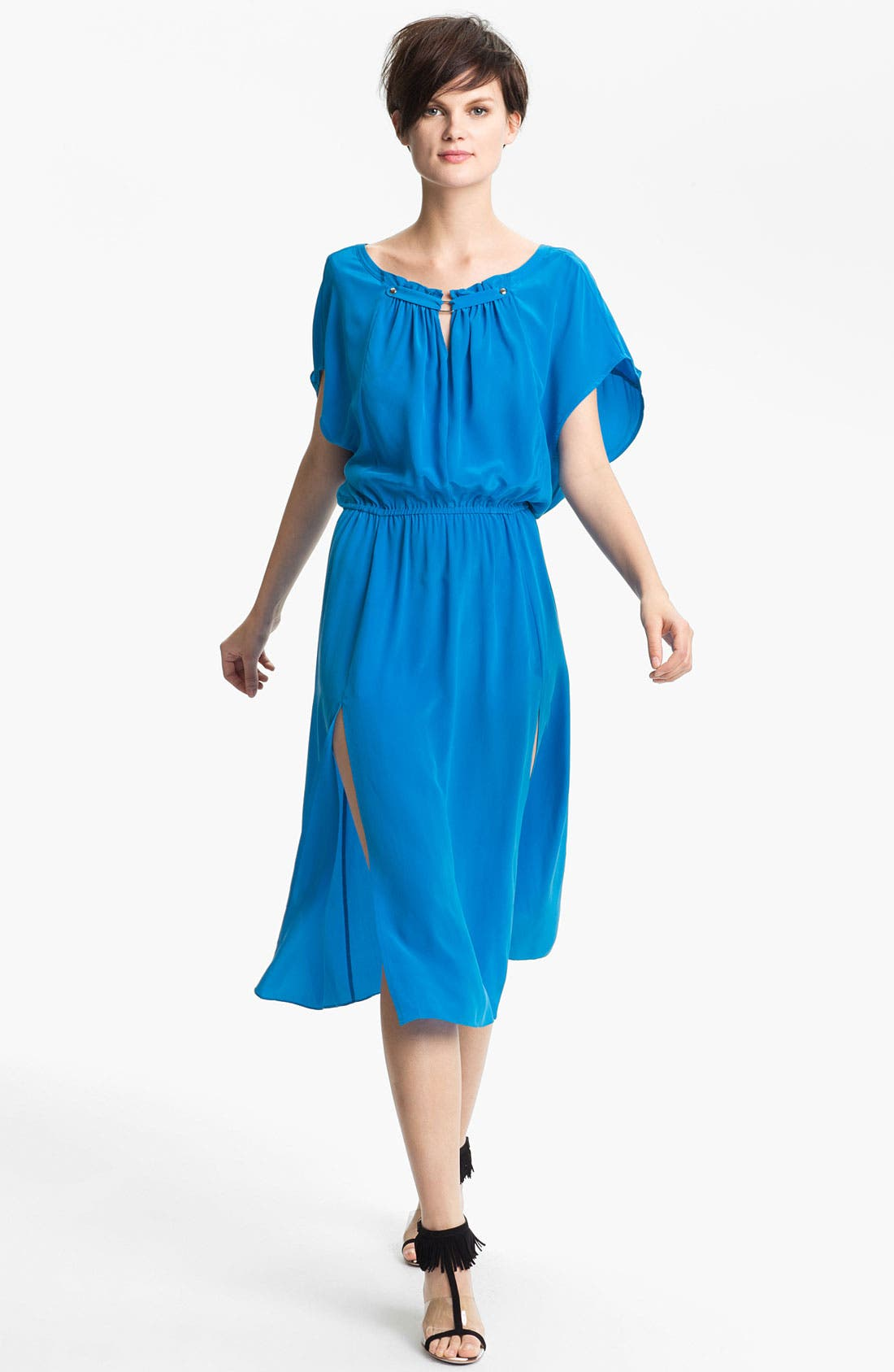 Main Image - Tracy Reese Front Keyhole Silk Dress