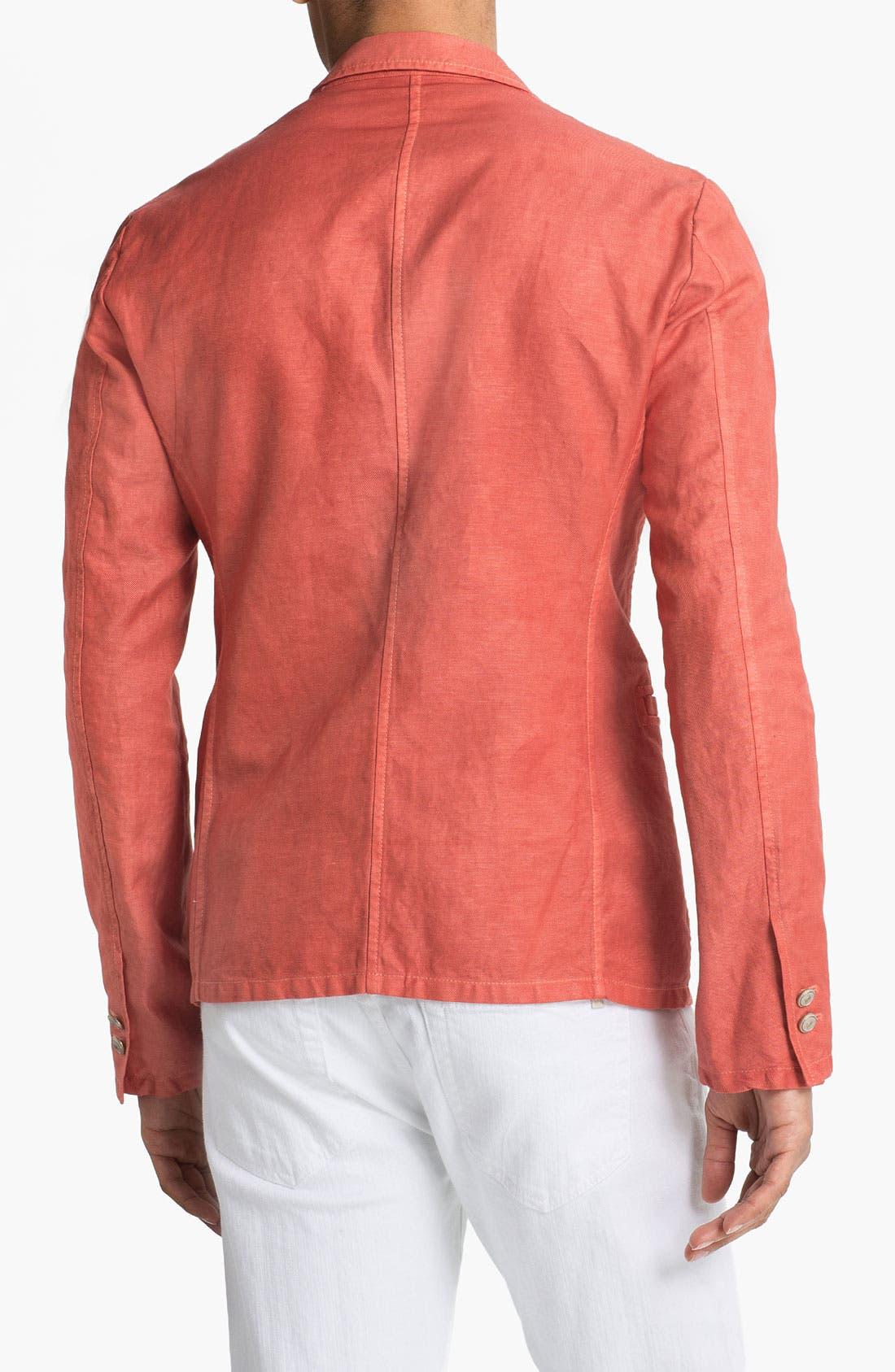 Alternate Image 2  - Just Cavalli Cotton & Linen Blazer