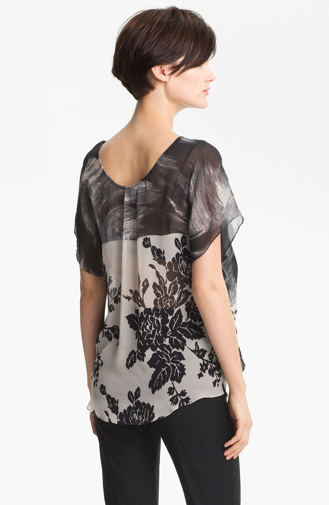 Alternate Image 2  - Tracy Reese Contrast Yoke Silk Top