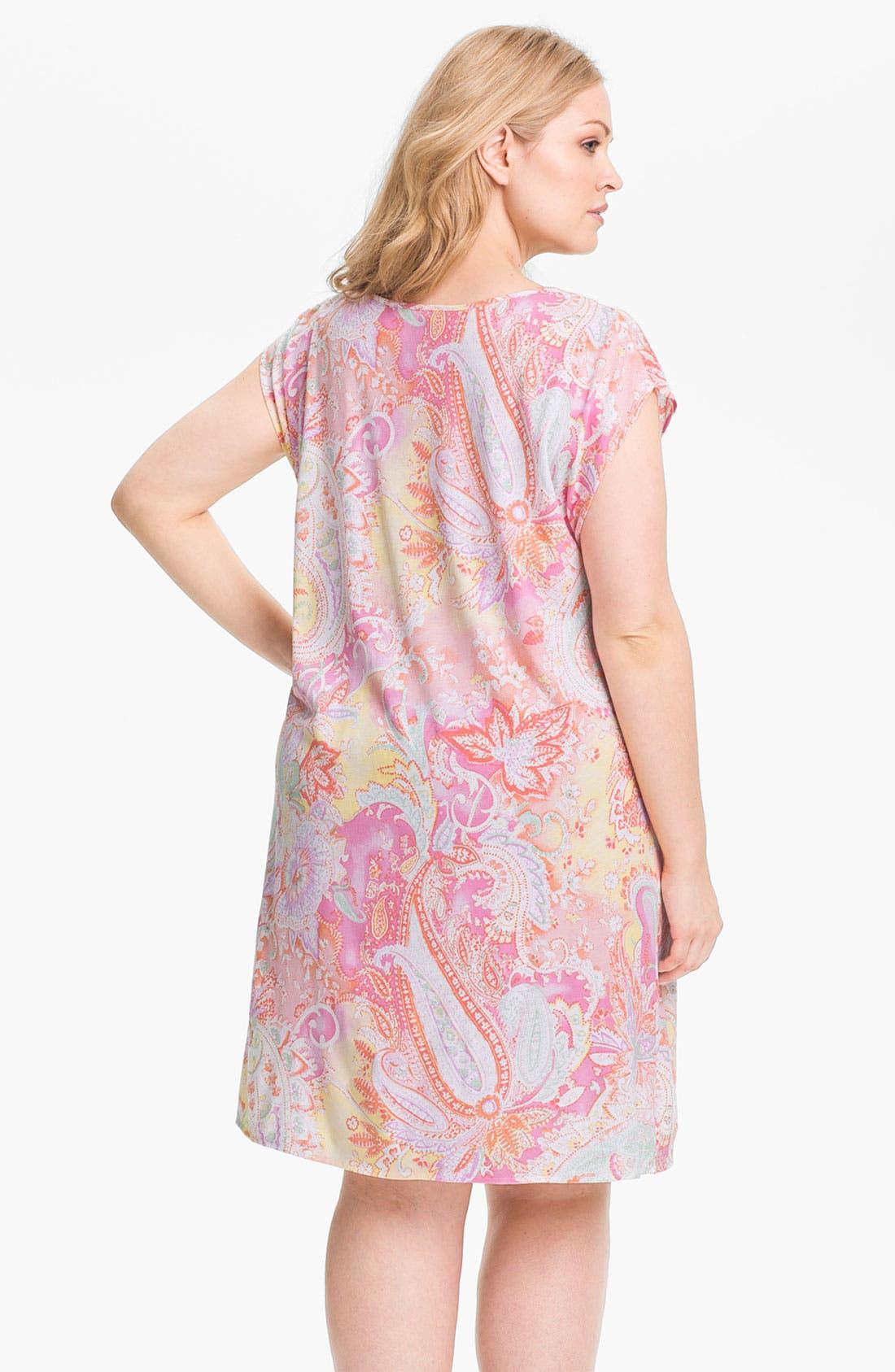 Alternate Image 2  - Lauren Ralph Lauren Sleepwear Knit Nightgown (Plus)