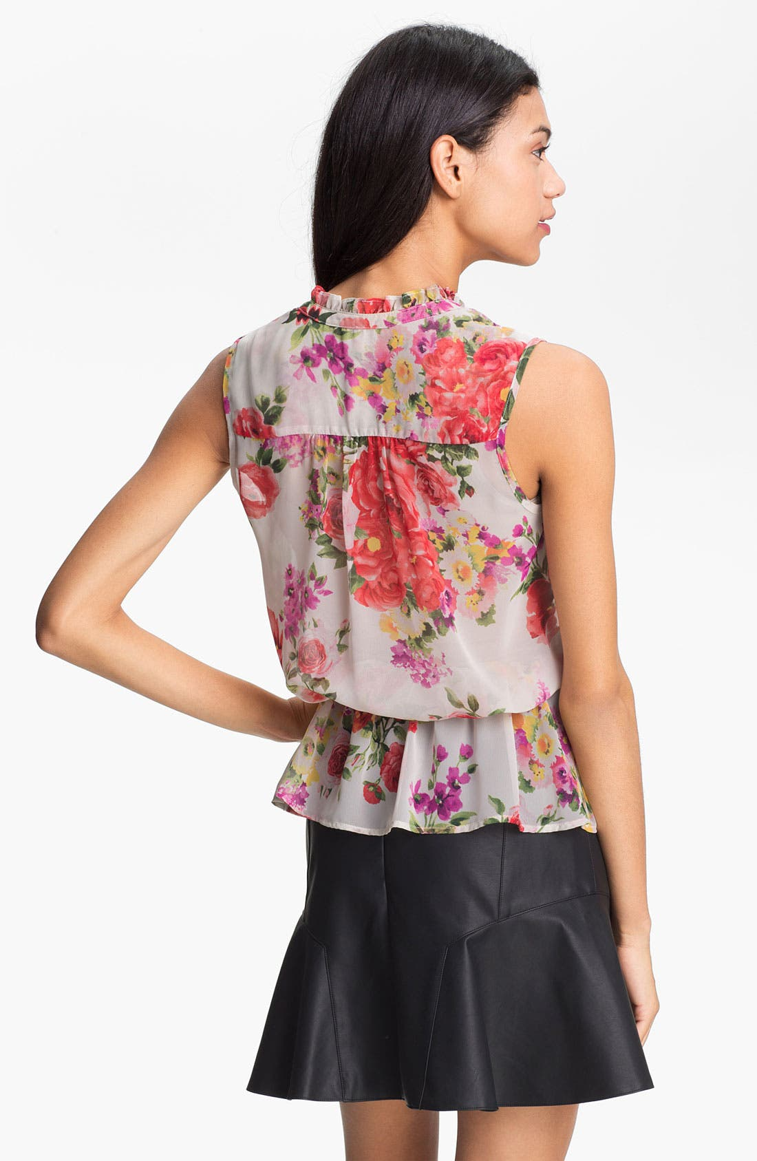 Alternate Image 2  - Bellatrix Print Sheer Peplum Blouse