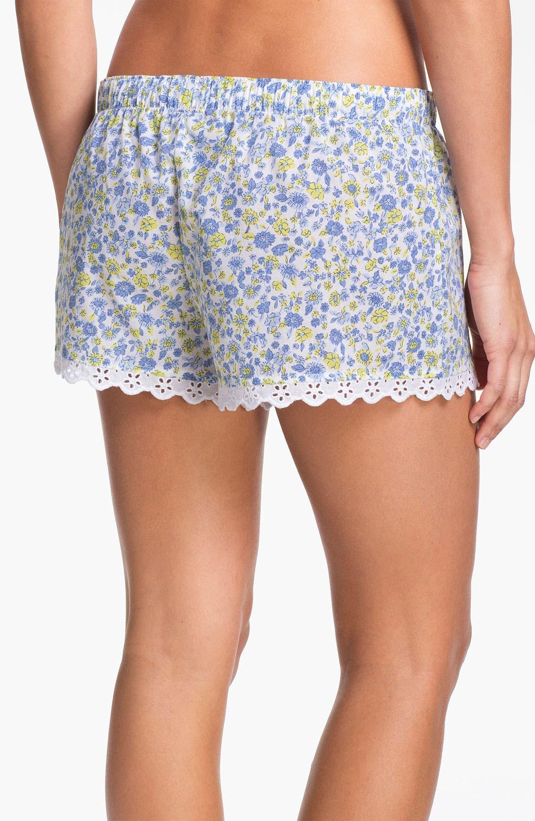 Alternate Image 2  - Jane & Bleecker New York Floral Print Boxer Shorts