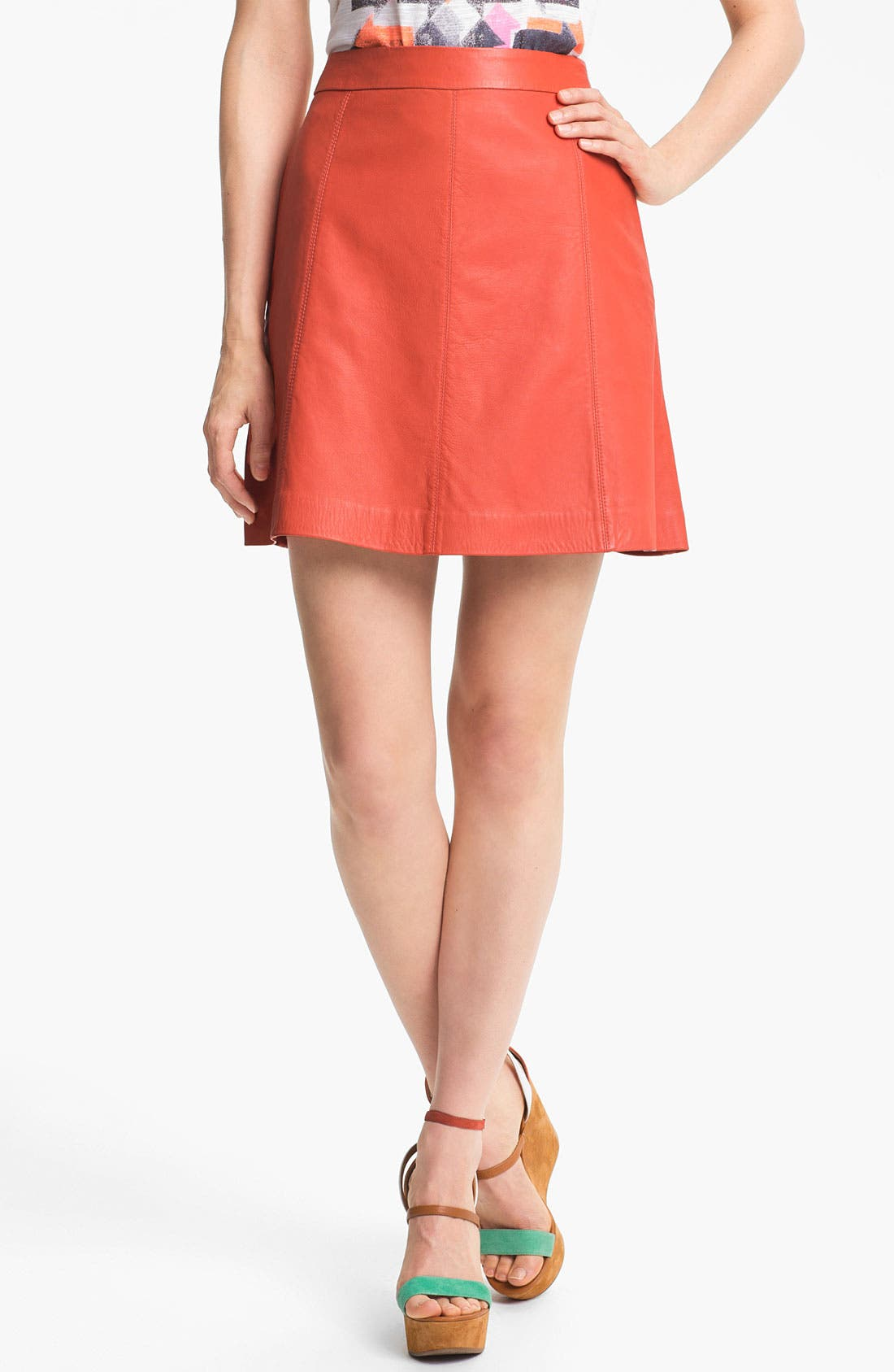 Alternate Image 1 Selected - MARC BY MARC JACOBS 'Jett' Leather Skirt