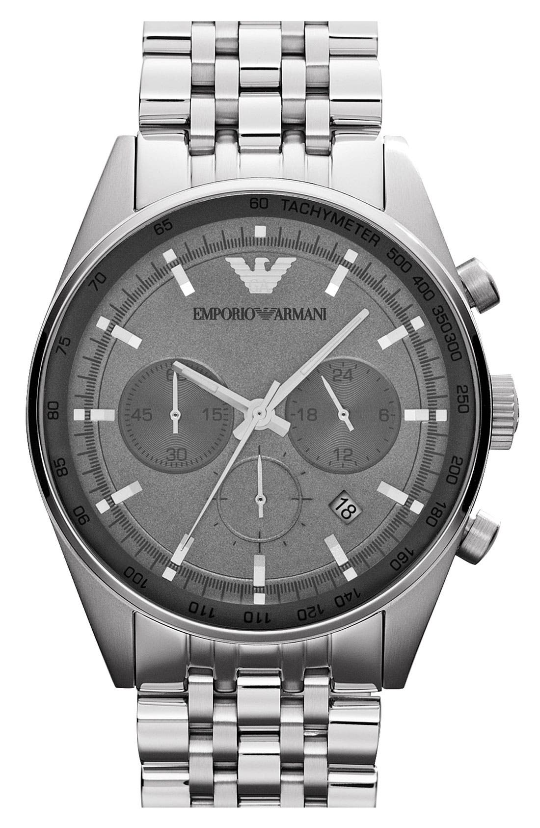 Main Image - Emporio Armani Chronograph Bracelet Watch, 43mm