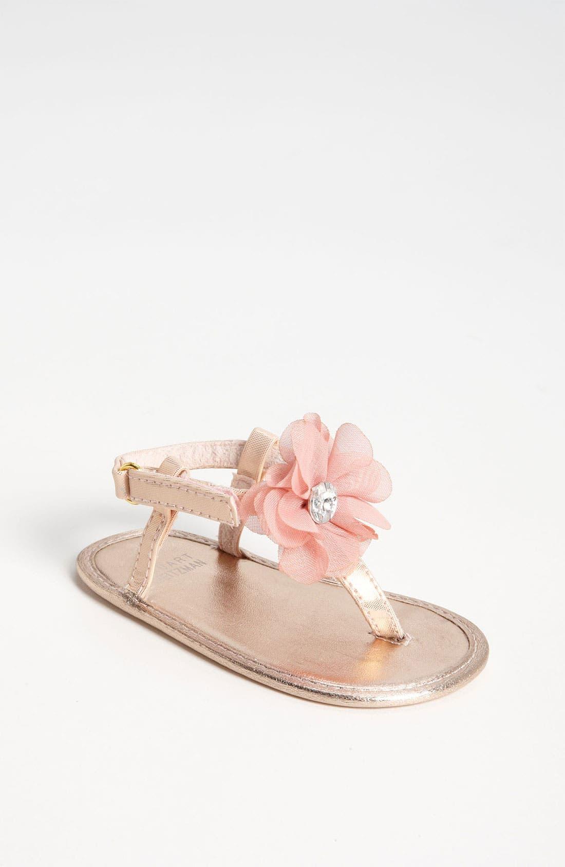 Alternate Image 1 Selected - Stuart Weitzman 'Baby Silk' Sandal (Baby)