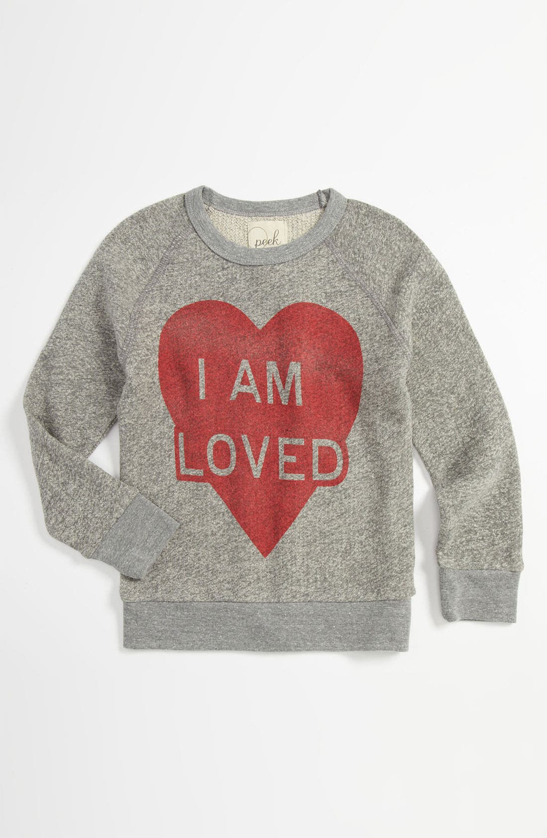 Alternate Image 1 Selected - Peek 'I Am Loved' Sweater (Little Girls & Big Girls)