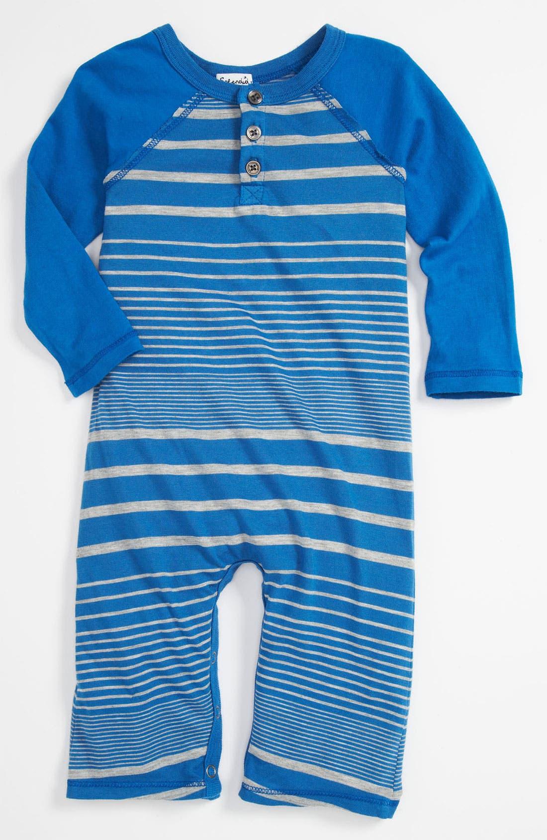Alternate Image 1 Selected - Splendid Stripe Romper (Infant)