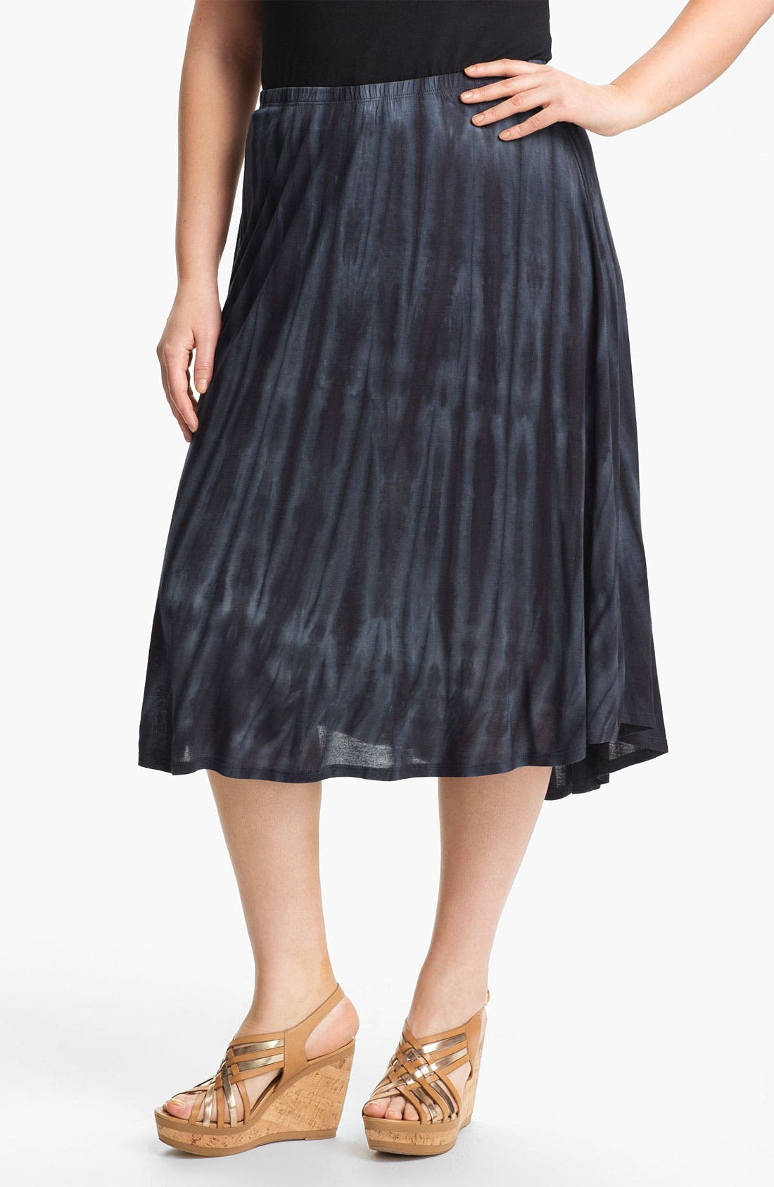 Alternate Image 1 Selected - Chalet 'Tiffany' Flared High/Low Skirt (Plus)