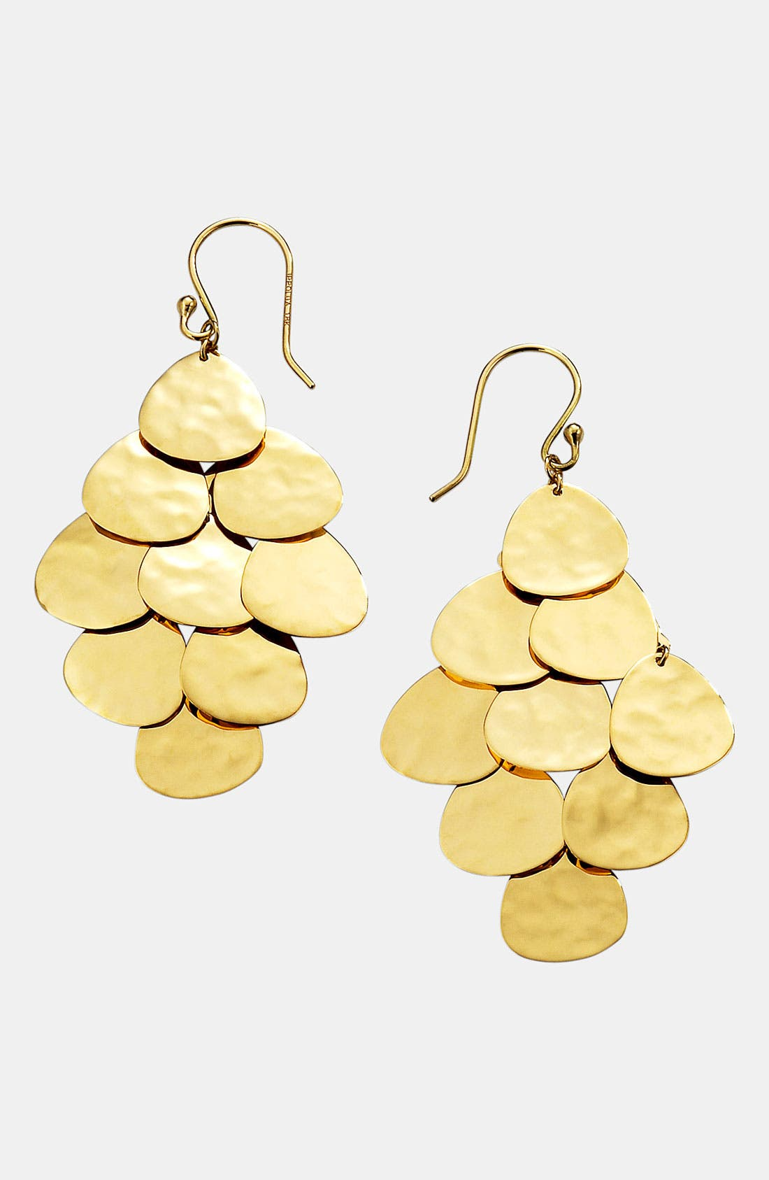 Alternate Image 1 Selected - Ippolita 'Crinkle' 18k Gold Cascade Earrings