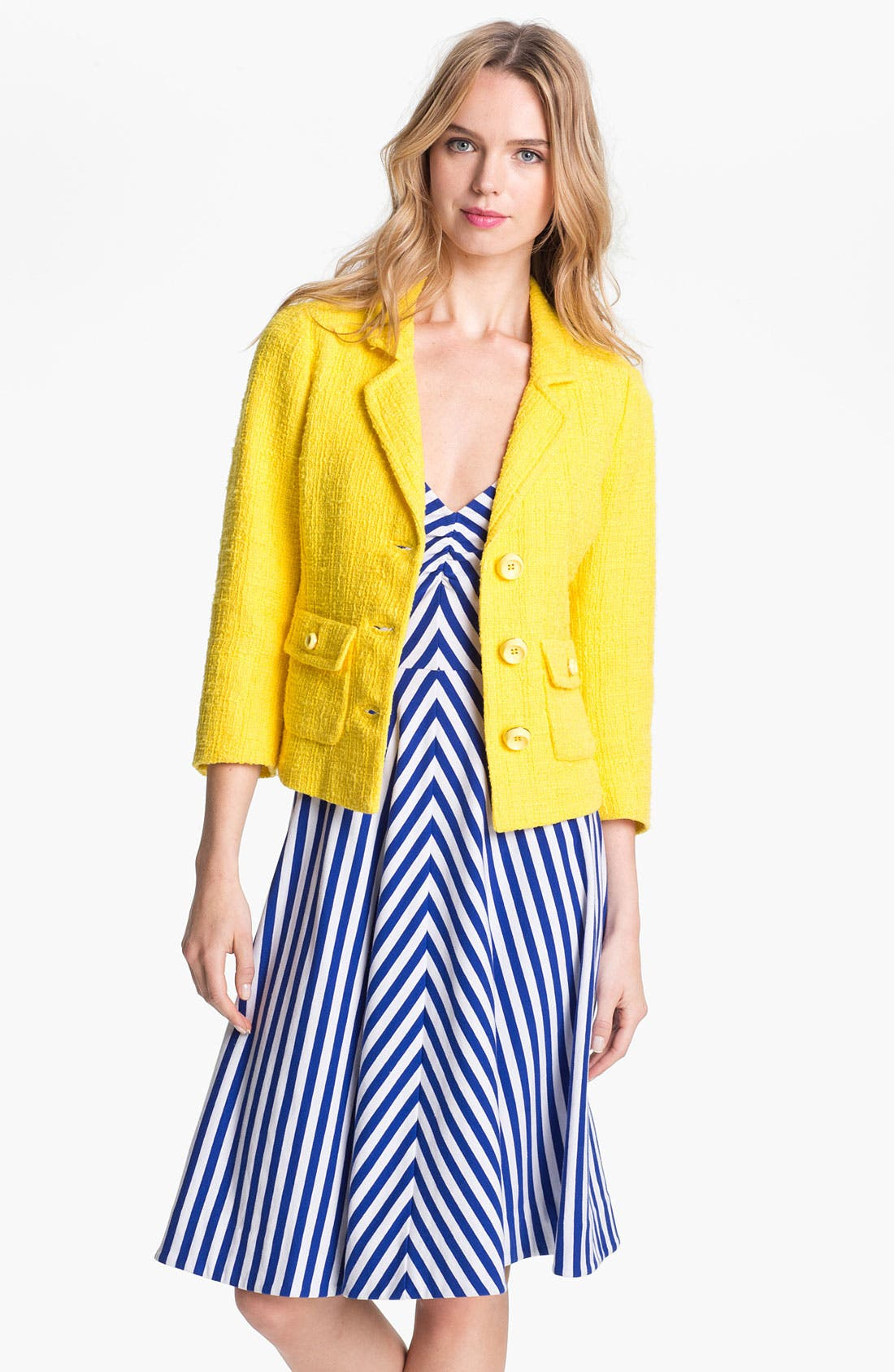 Alternate Image 1 Selected - kate spade new york 'hadley' crop jacket