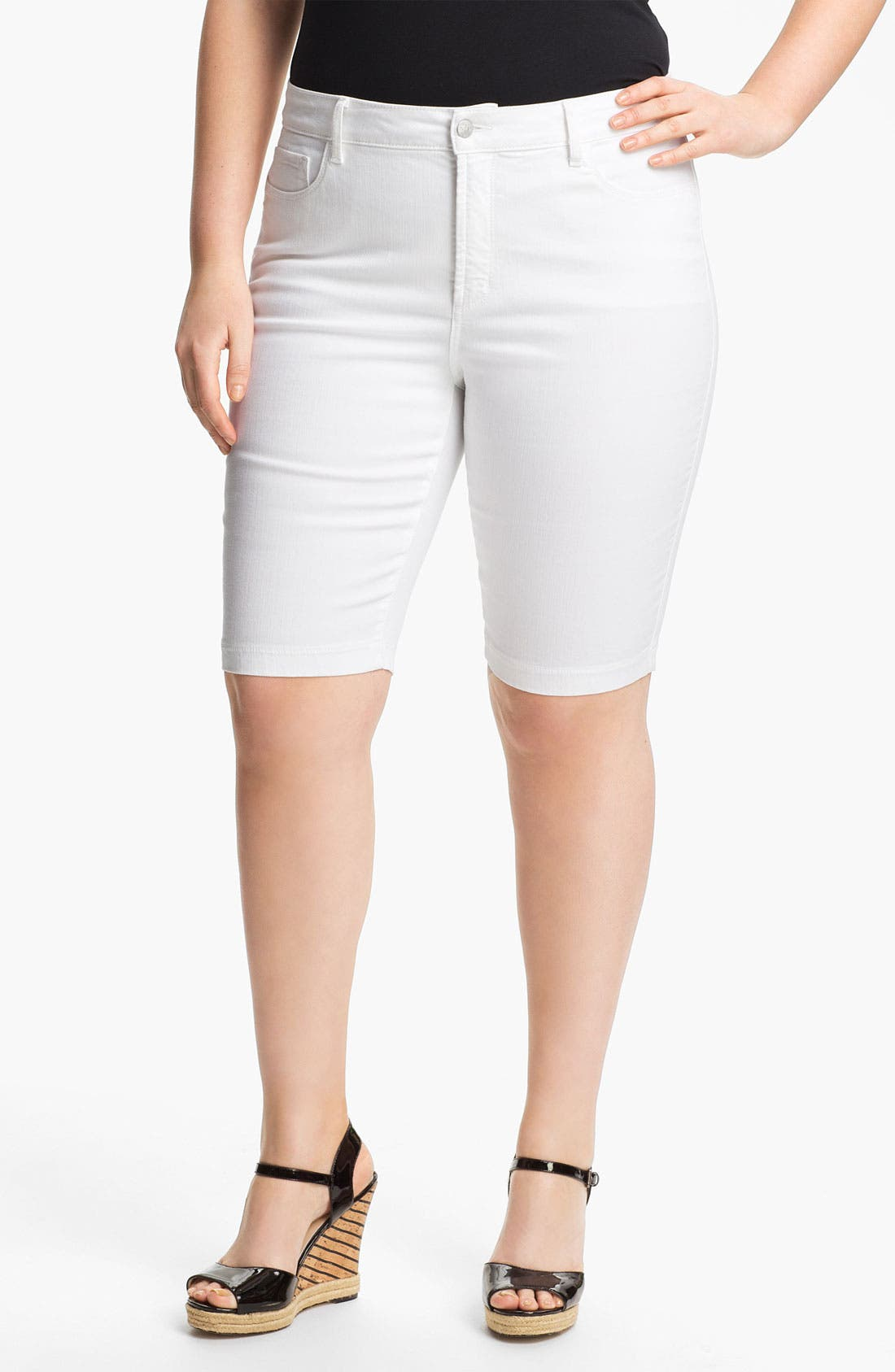 Alternate Image 1 Selected - NYDJ 'Helen' Stretch Denim Shorts (Plus Size)