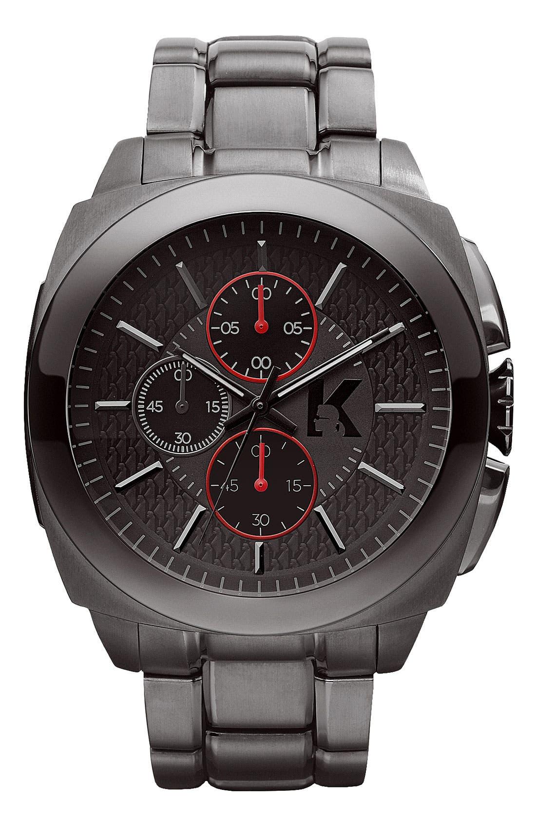 Main Image - KARL LAGERFELD 'Keeper' Chronograph Bracelet Watch, 46mm