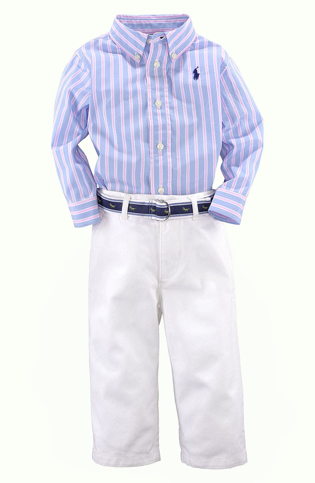 Alternate Image 2  - Ralph Lauren Shirt & Pants (Baby)