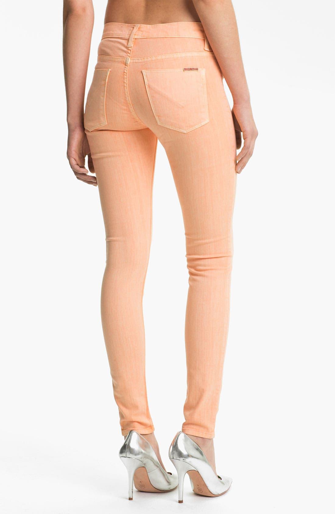 Alternate Image 2  - Hudson Jeans 'Nico' Skinny Overdyed Jeans (Apricot)