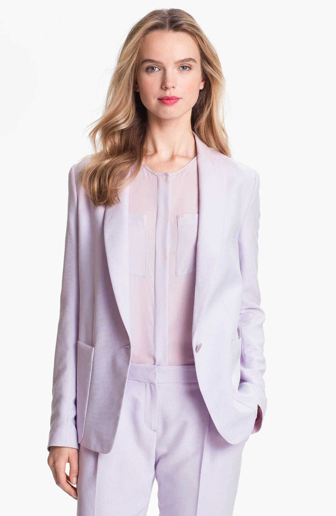 Alternate Image 1 Selected - Theory 'Dalaine' Silk Blazer
