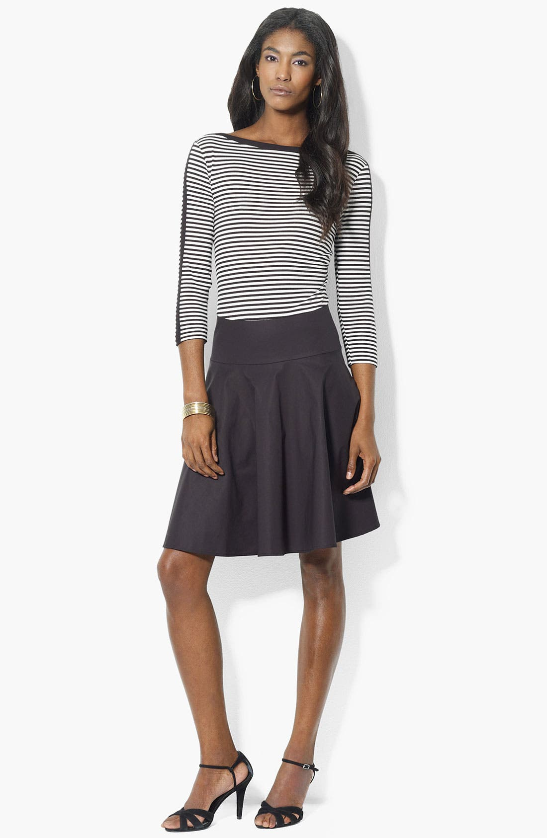 Alternate Image 1 Selected - Lauren Ralph Lauren Mock Two Piece Dress (Petite) (Online Only)