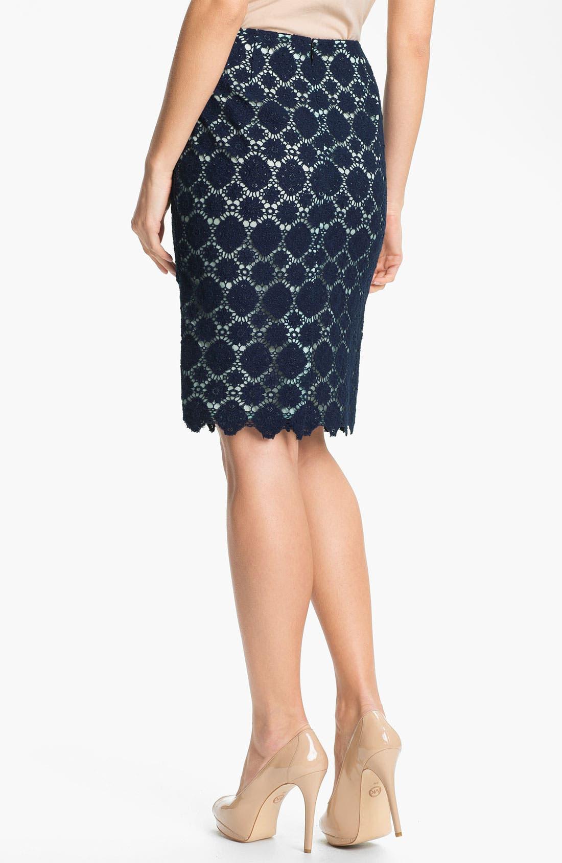 Alternate Image 2  - Vince Camuto Crochet Lace Pencil Skirt