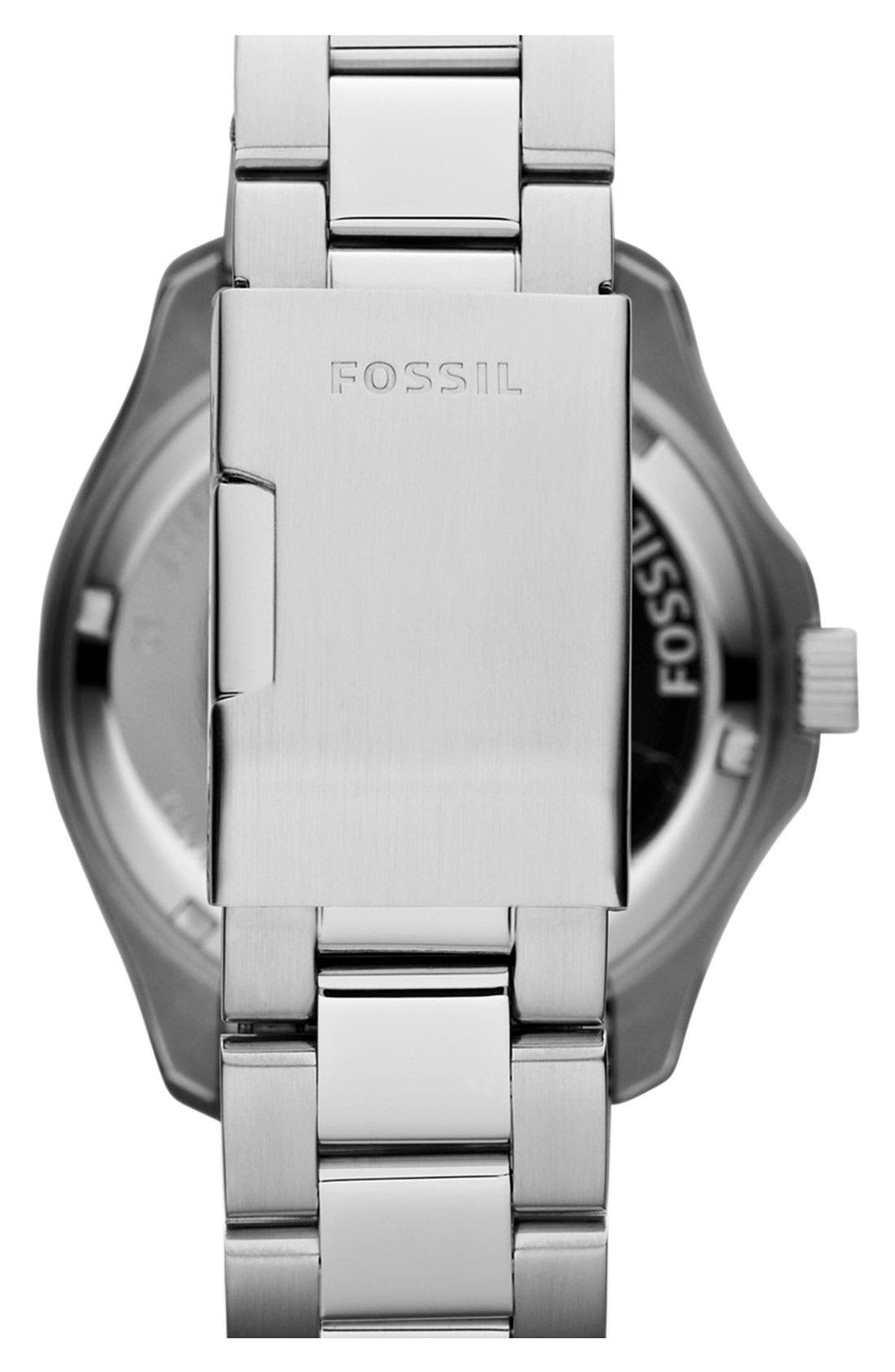 Alternate Image 3  - Fossil 'Retro Traveler' Bracelet Watch, 44mm