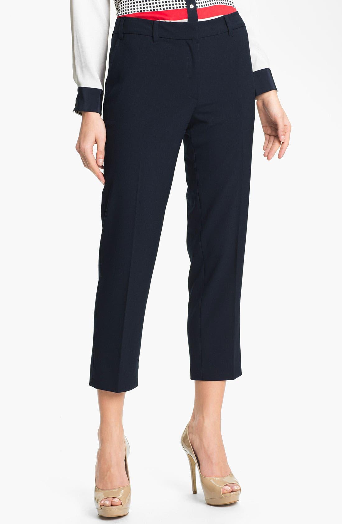 Alternate Image 1 Selected - Adrianna Papell Double Belt Loop Crop Pants