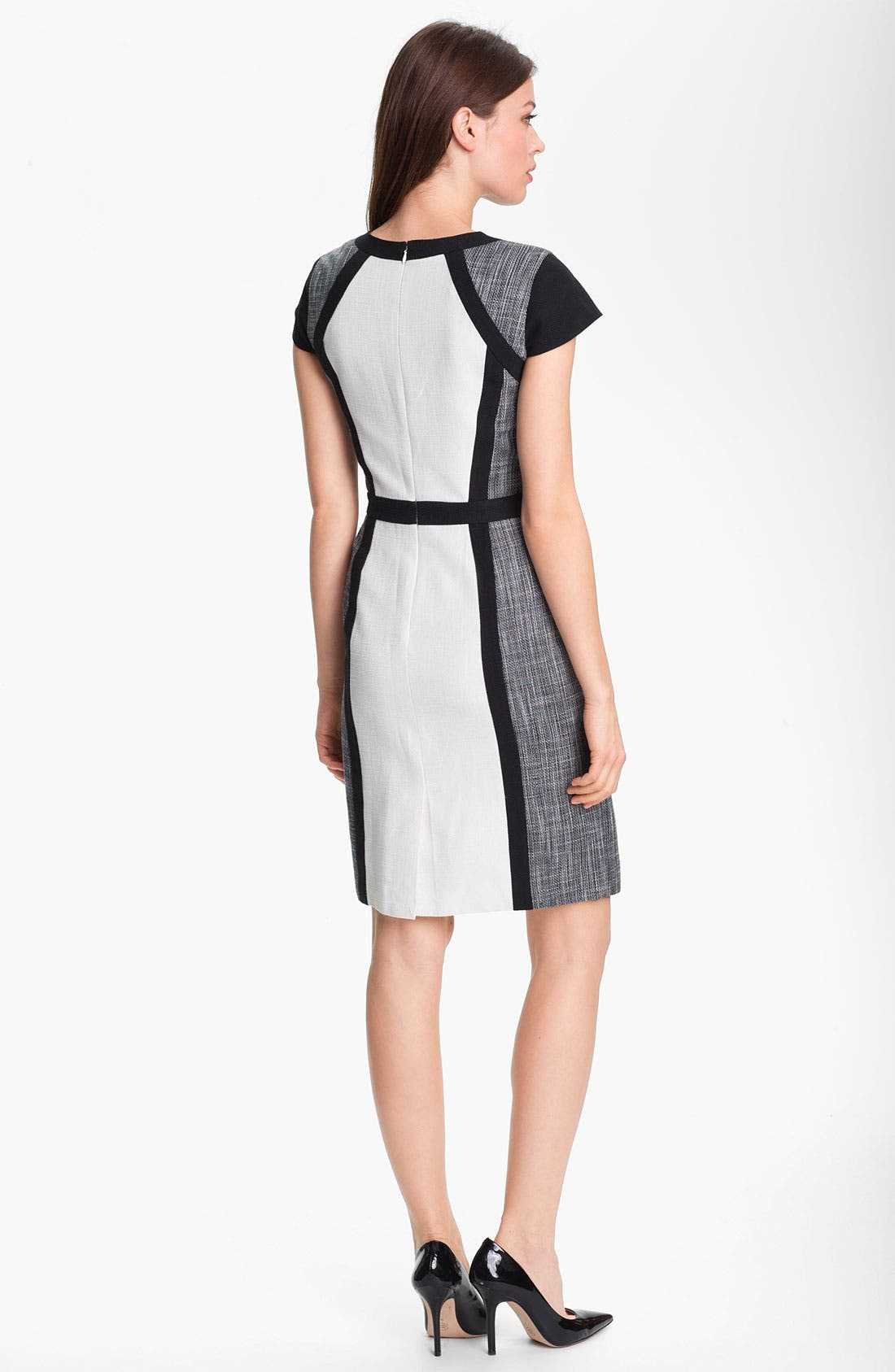 Alternate Image 2  - Calvin Klein Colorblock Panel Dress