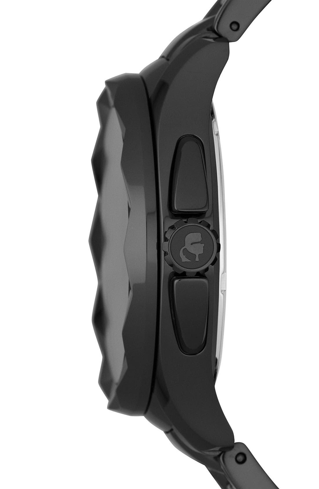 Alternate Image 3  - KARL LAGERFELD '7' Faceted Bezel Bracelet Watch, 44mm (Nordstrom Online Exclusive)