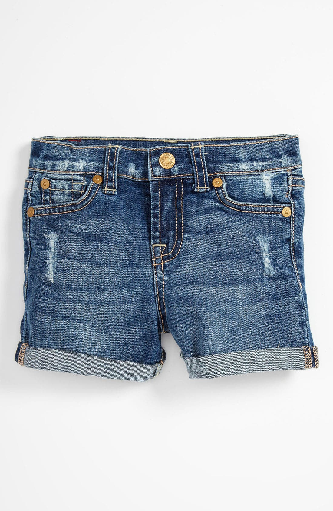 Alternate Image 2  - 7 For All Mankind® Denim Shorts (Infant)