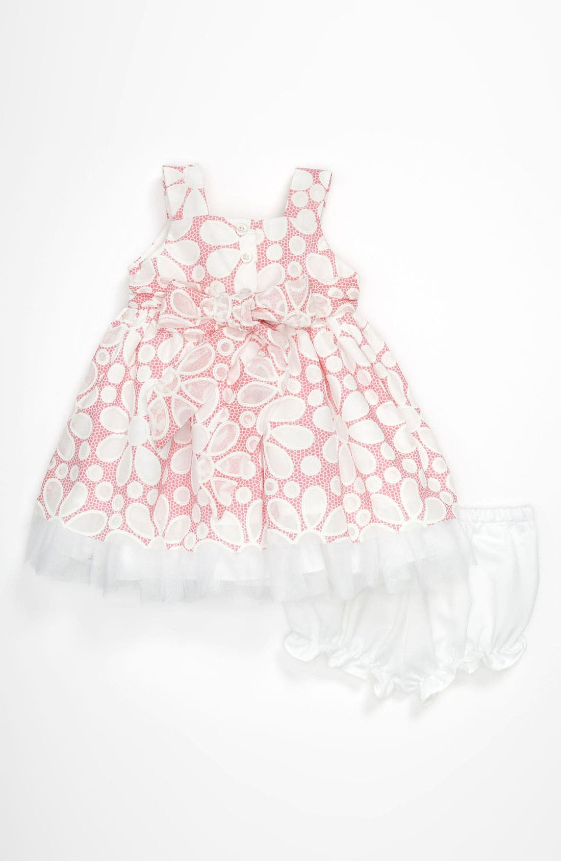 Alternate Image 2  - Pippa & Julie Burnout Dress (Baby Girls)