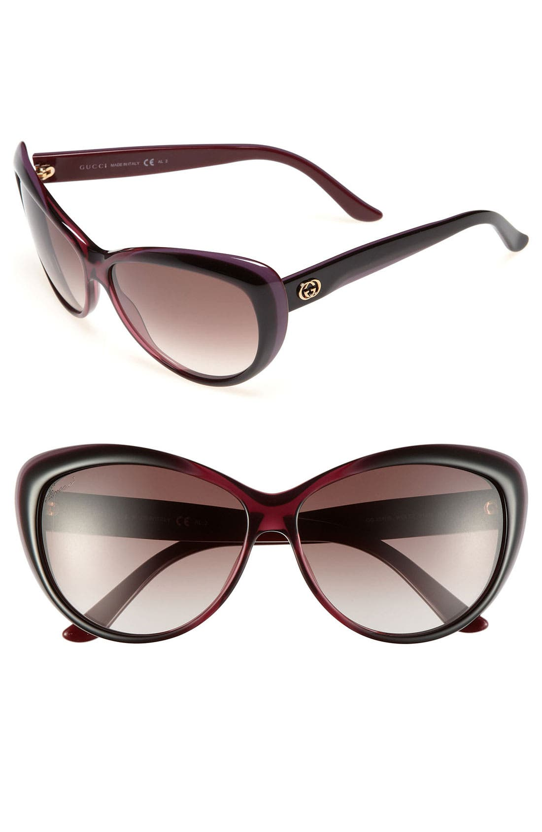 Alternate Image 1 Selected - Gucci 61mm Retro Sunglasses