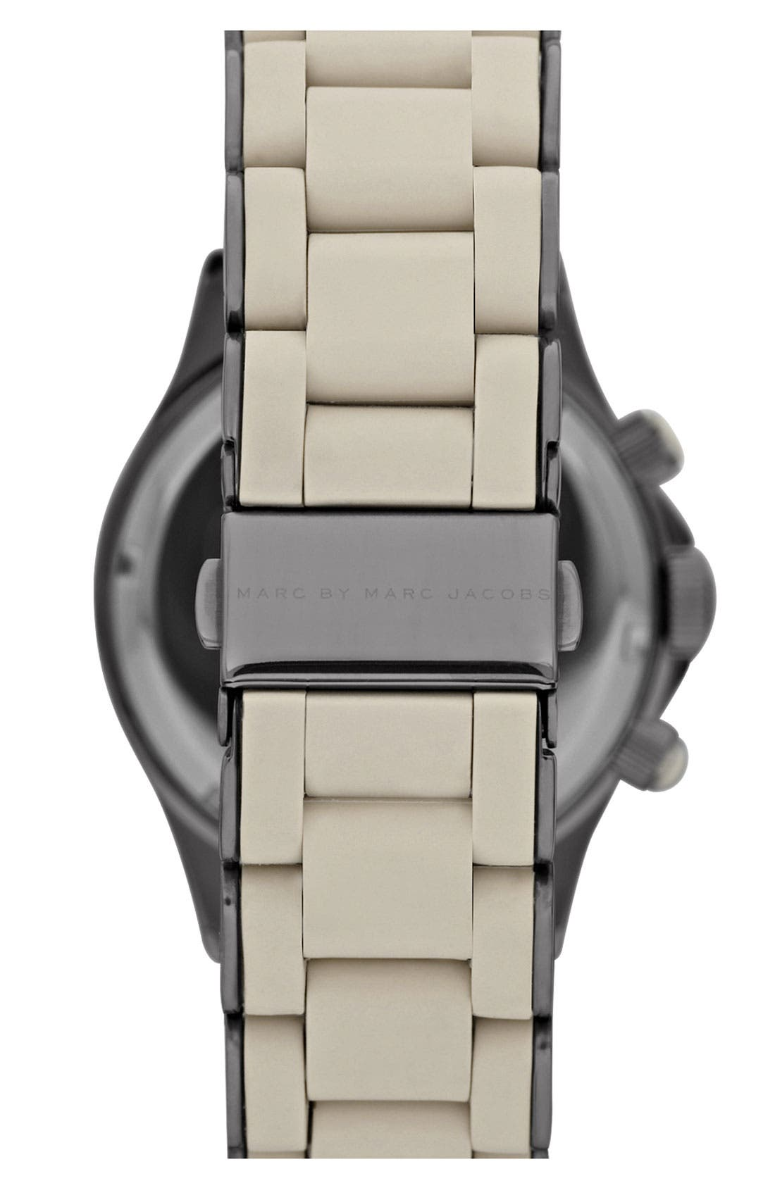Alternate Image 3  - MARC JACOBS 'Rock' Chronograph Silicone Bracelet Watch, 40mm