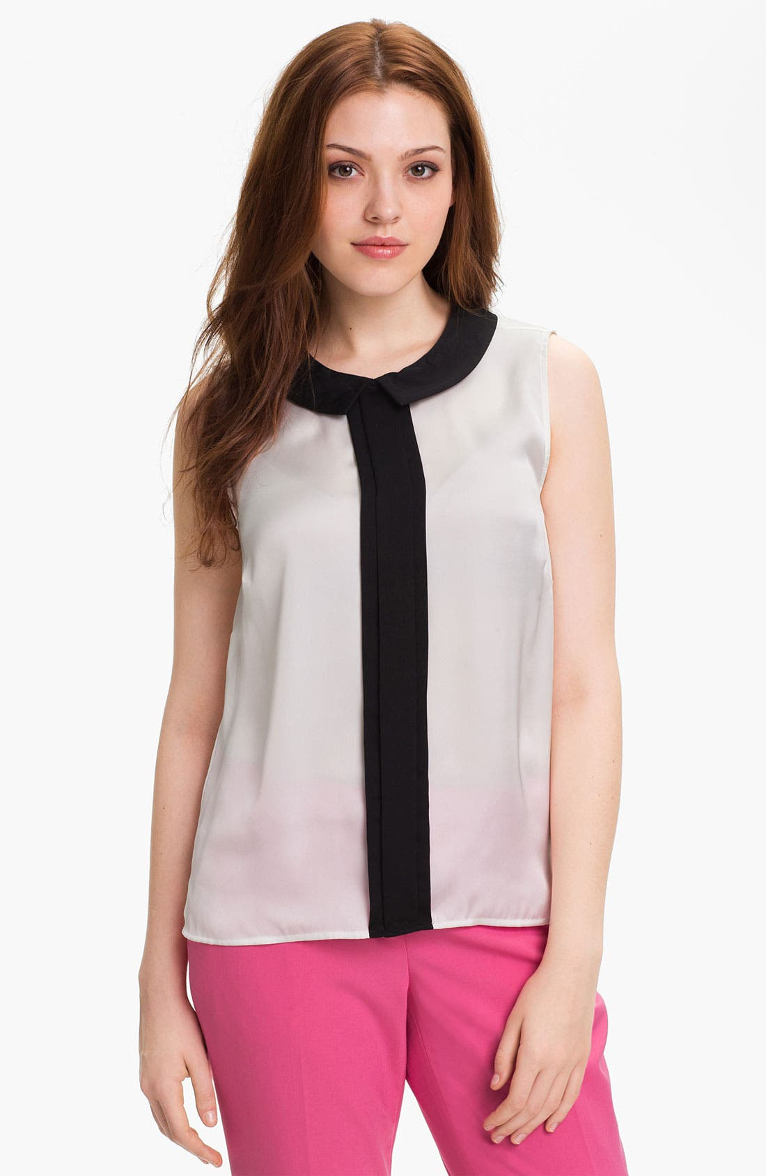 Main Image - Vince Camuto Sleeveless Collared Blouse