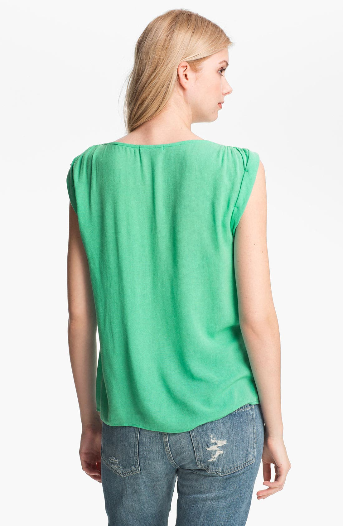 Alternate Image 2  - Ella Moss Ruched Roll Sleeve Top