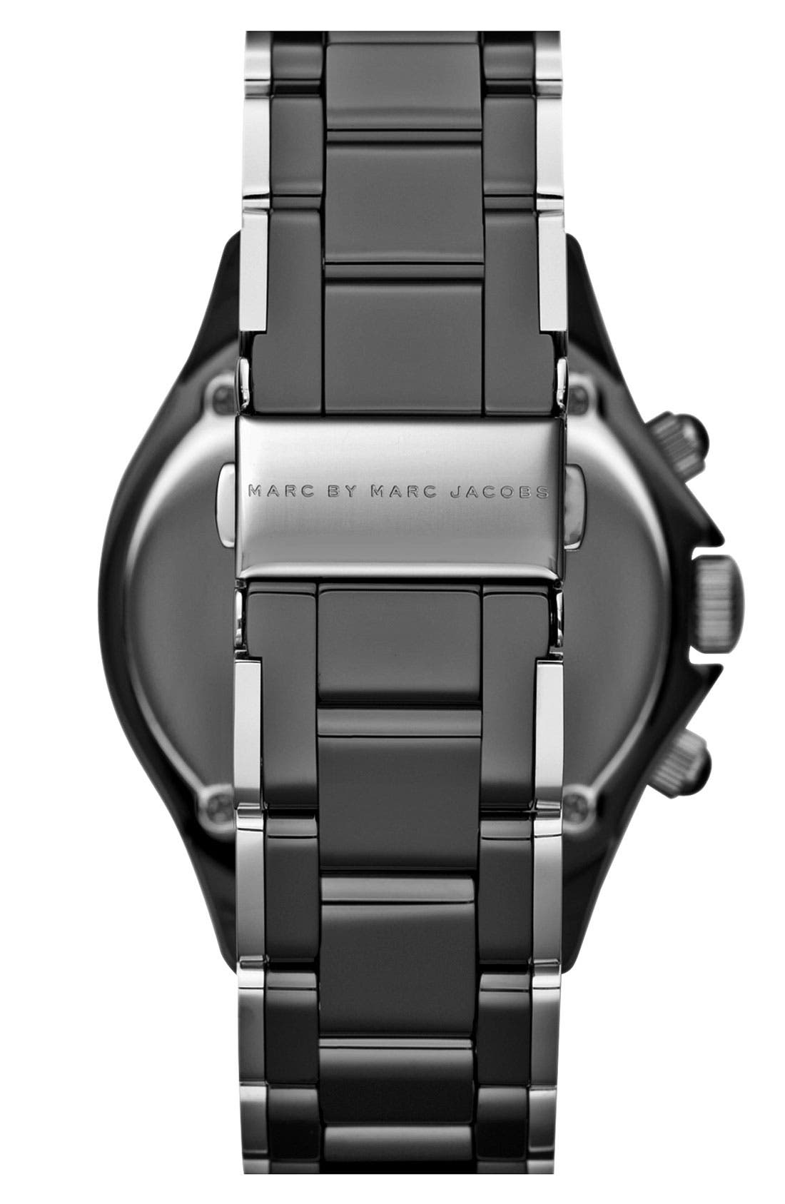 Alternate Image 3  - MARC BY MARC JACOBS 'Rock' Ceramic Chronograph Watch