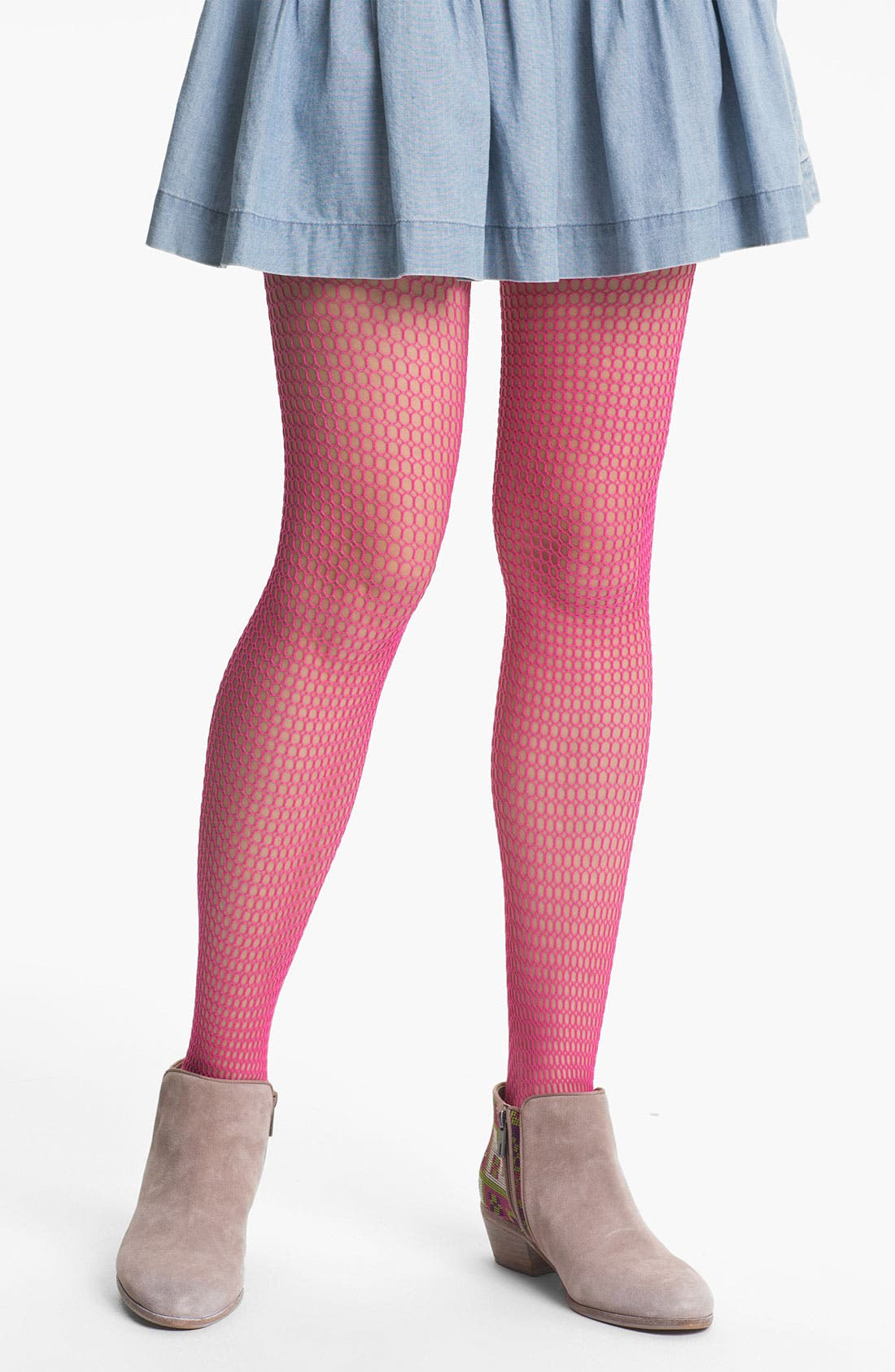 Alternate Image 1 Selected - Hue 'Box Net' Tights