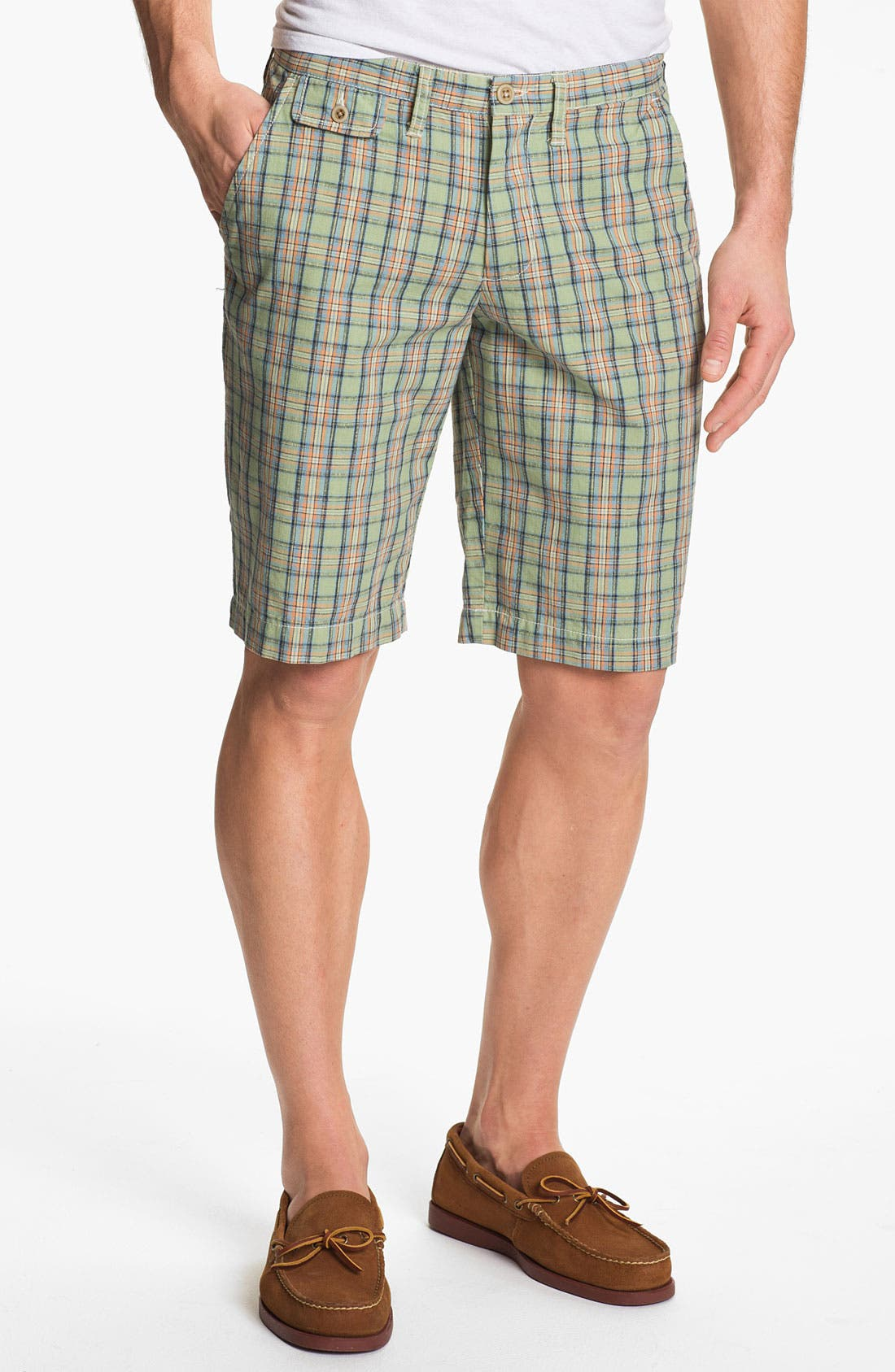Main Image - Just A Cheap Shirt 'Sorrento' Plaid Shorts