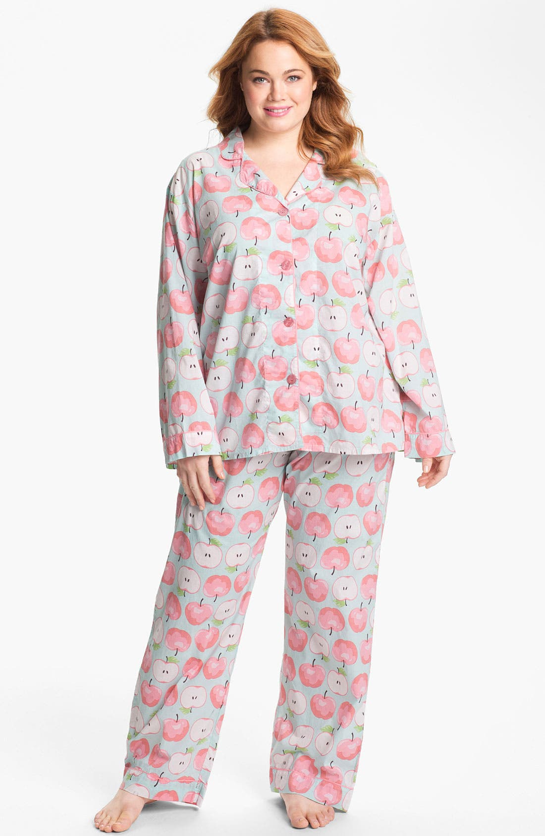 Alternate Image 1 Selected - PJ Salvage Woven Pajamas (Plus Size)