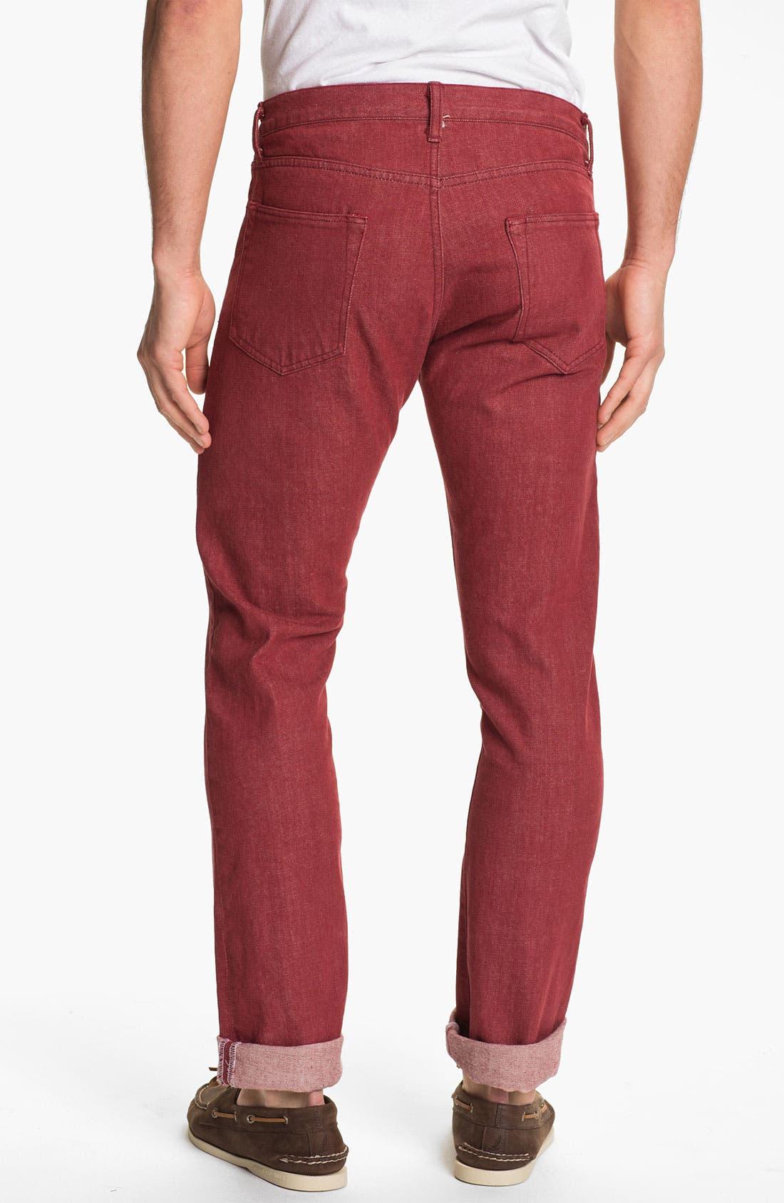 Alternate Image 1 Selected - J. Press York Street 'Hanover' Slim Fit Selvedge Jeans