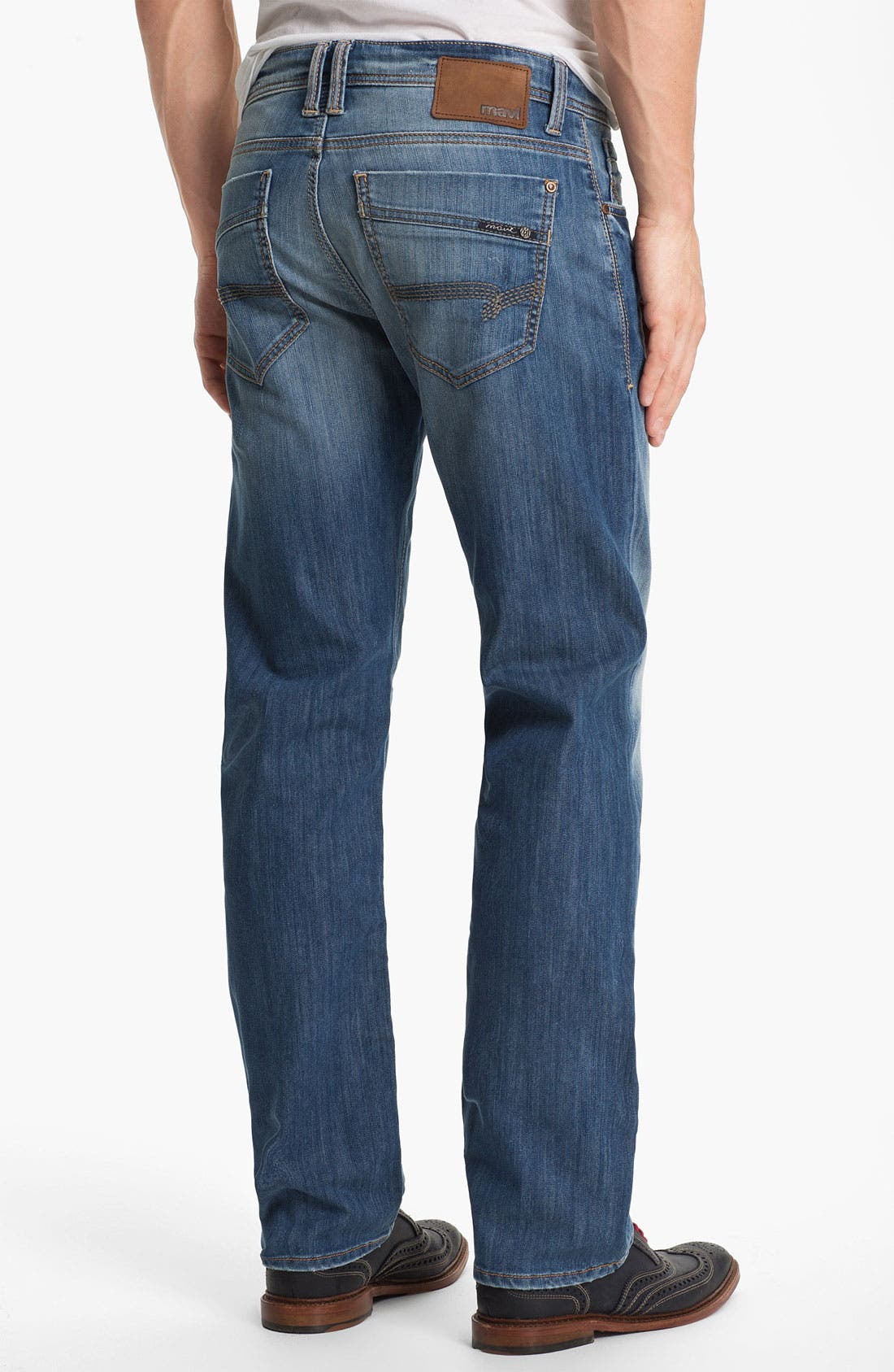 Alternate Image 2  - Mavi Jeans 'Zach' Straight Leg Jeans (Light Cooper)