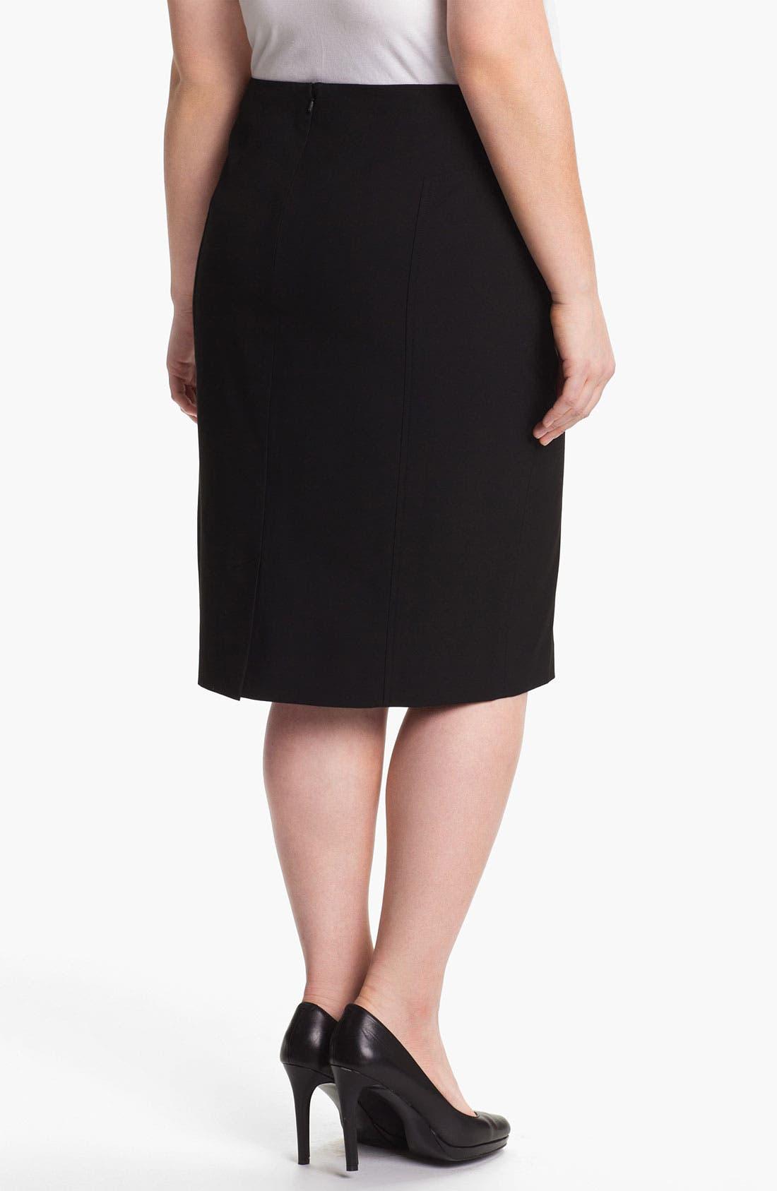 Alternate Image 2  - Sejour 'Ela' Pencil Skirt (Plus Size)