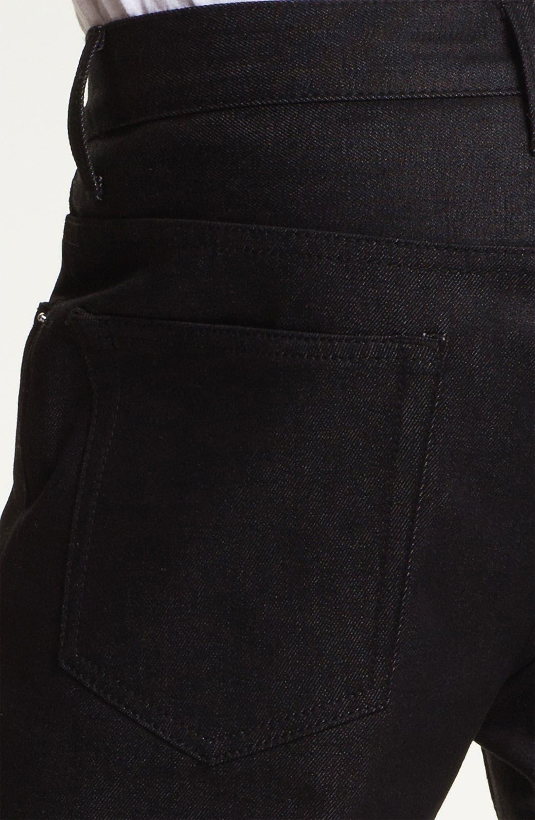 Alternate Image 4  - Cheap Monday High Slim Leg Jeans (Dry Black)