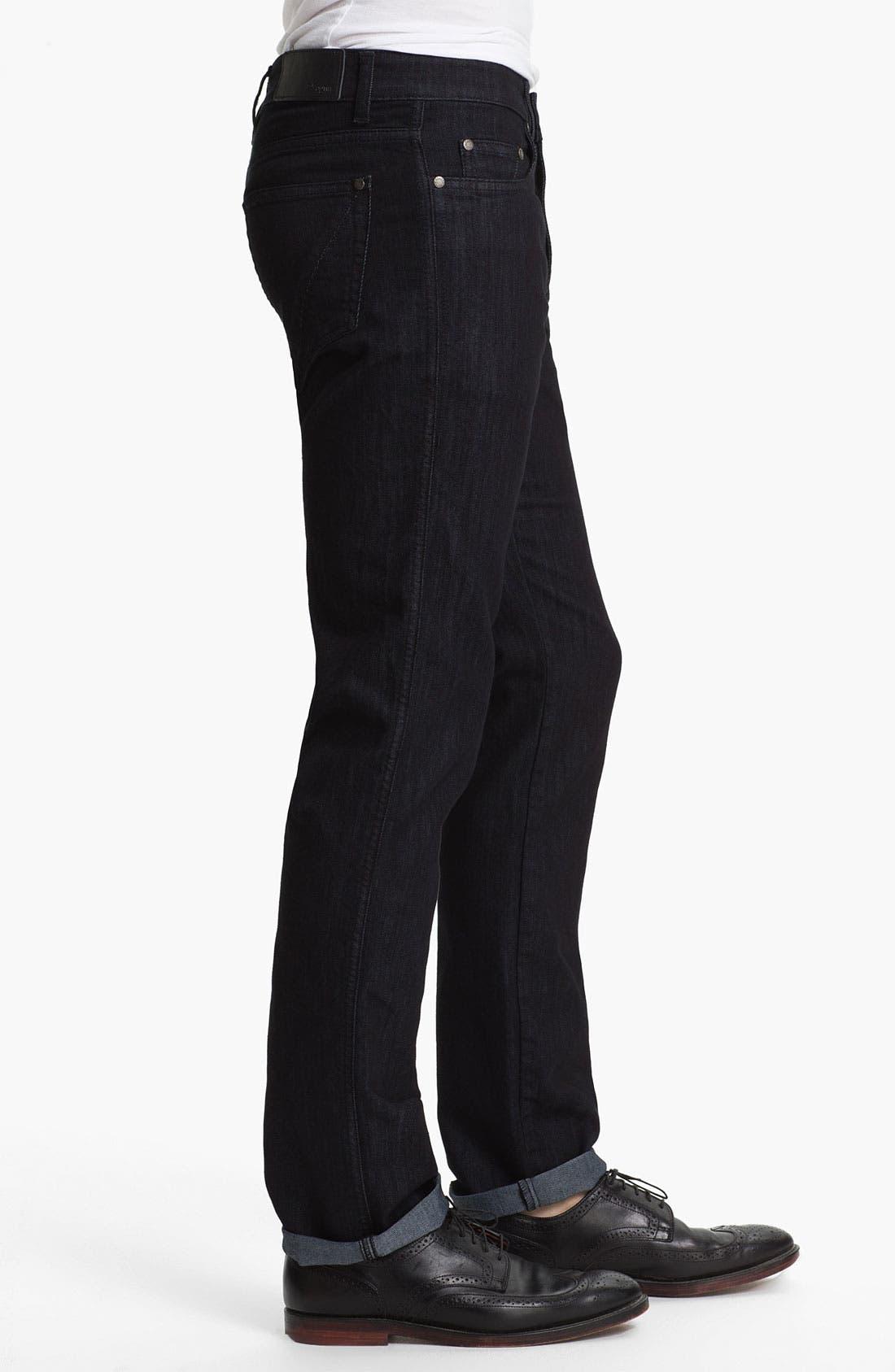 Alternate Image 3  - Z Zegna 'Metalized Effect' Straight Leg Jeans (Black)
