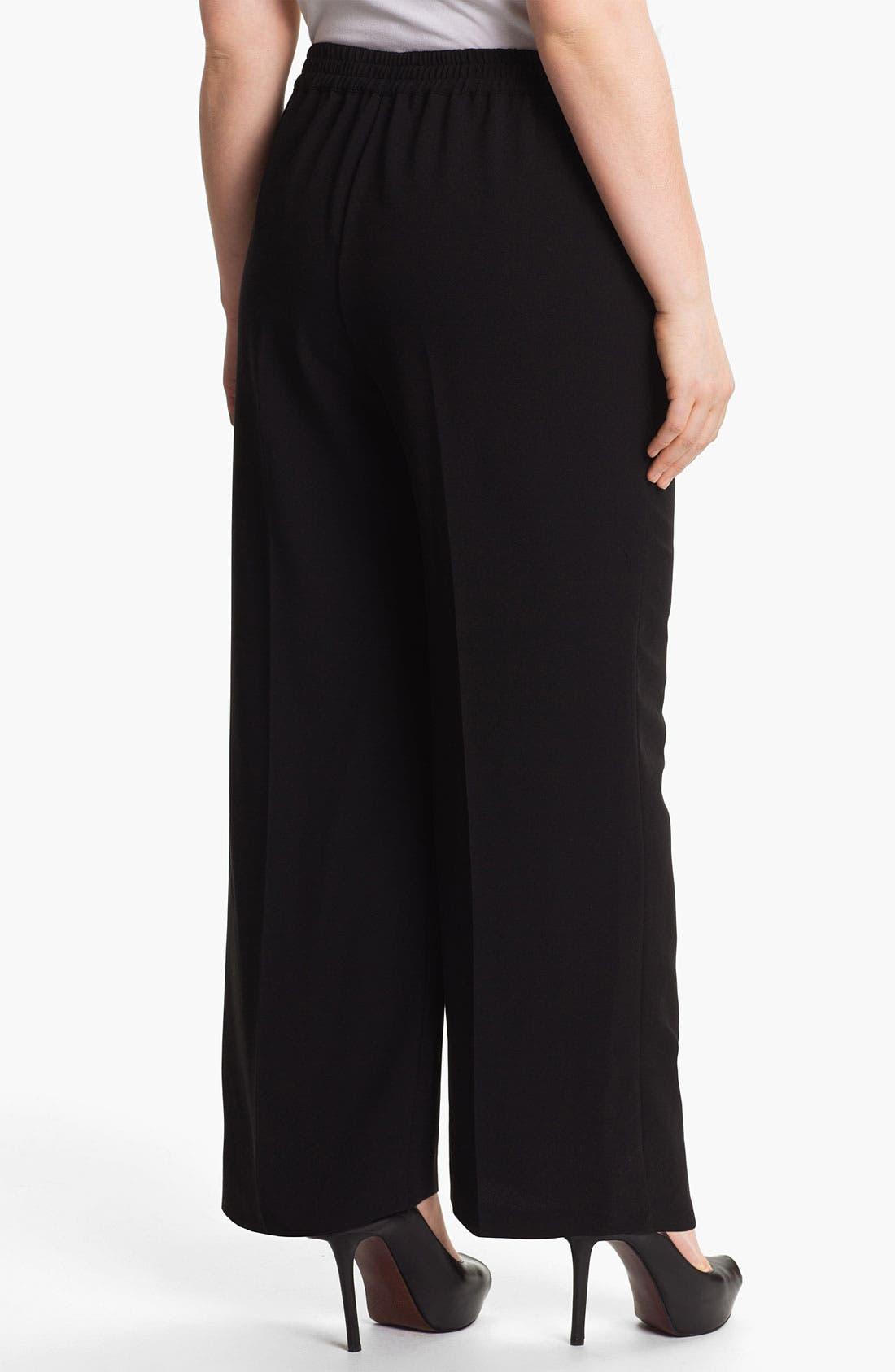 Alternate Image 2  - Evans Wide Leg Trousers (Plus Size)