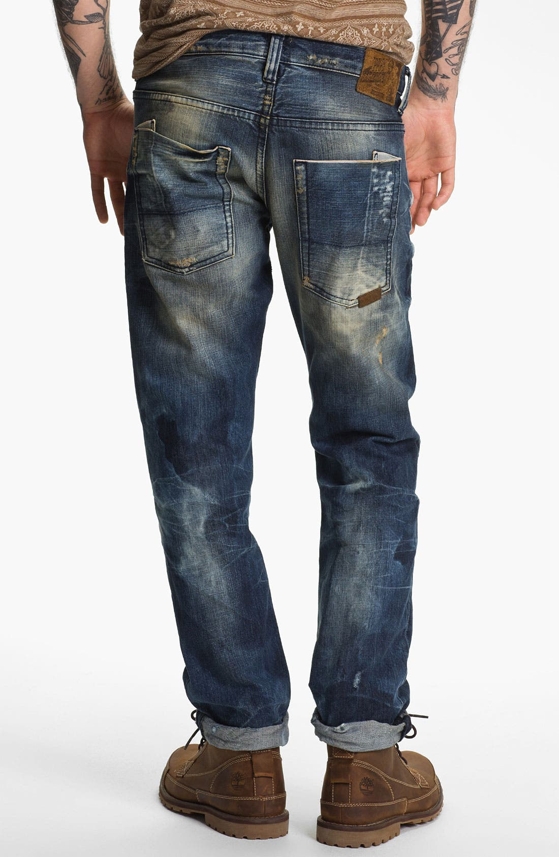 Alternate Image 1 Selected - PRPS 'Nautilus Barracuda' Straight Leg Jeans (Indigo)