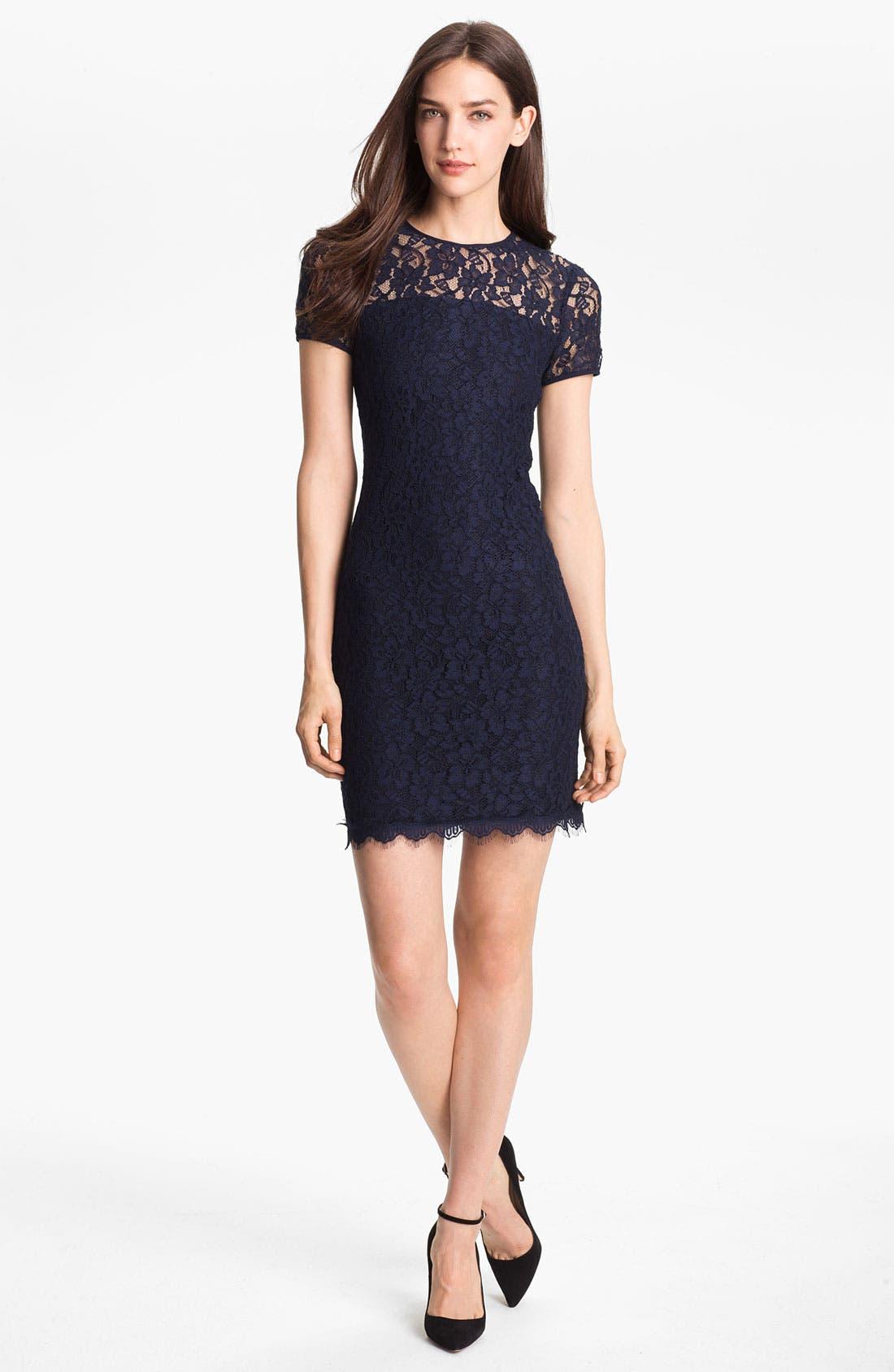 Alternate Image 1 Selected - Diane von Furstenberg 'Barbie' Lace Shift Dress