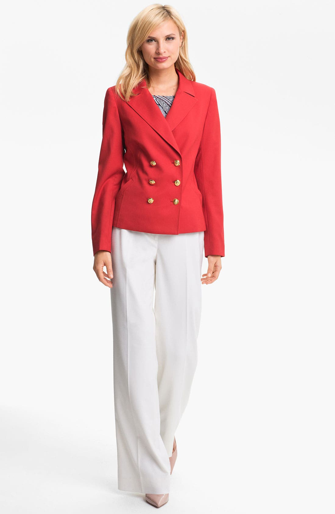 Alternate Image 1 Selected - Anne Klein Peacoat (Petite)