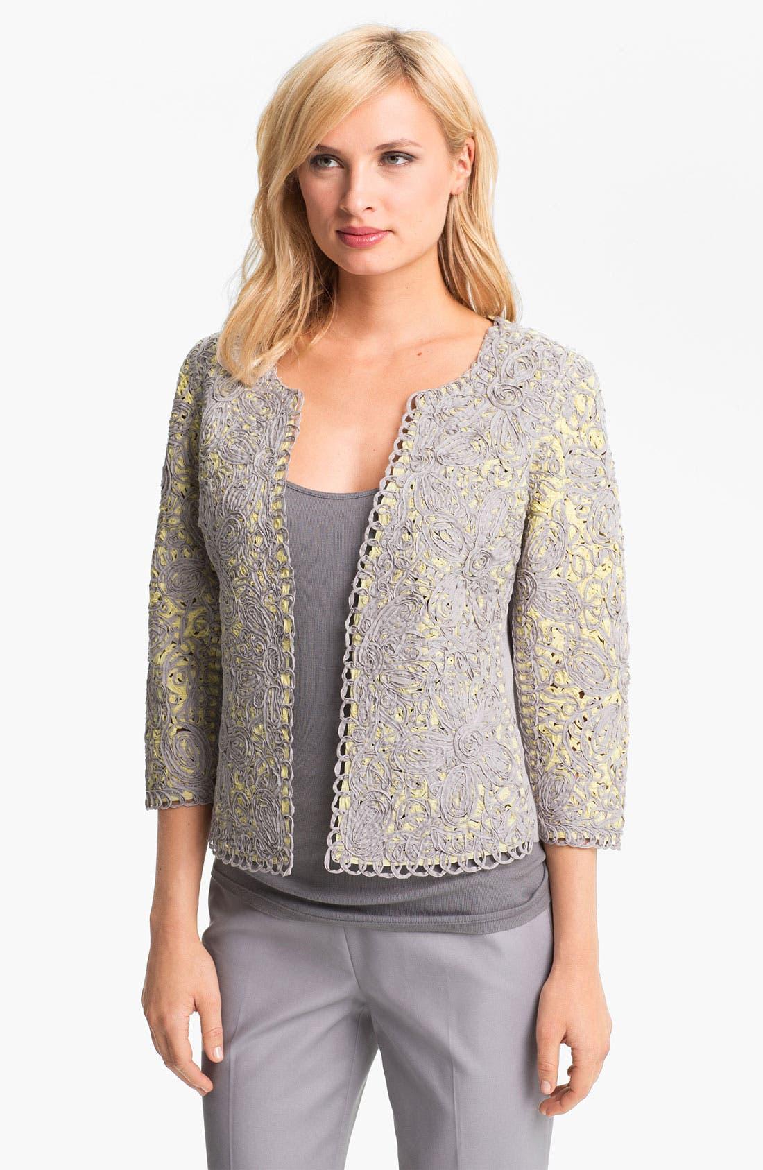 Alternate Image 1 Selected - Nic + Zoe Two Tone Lace Jacket (Petite)
